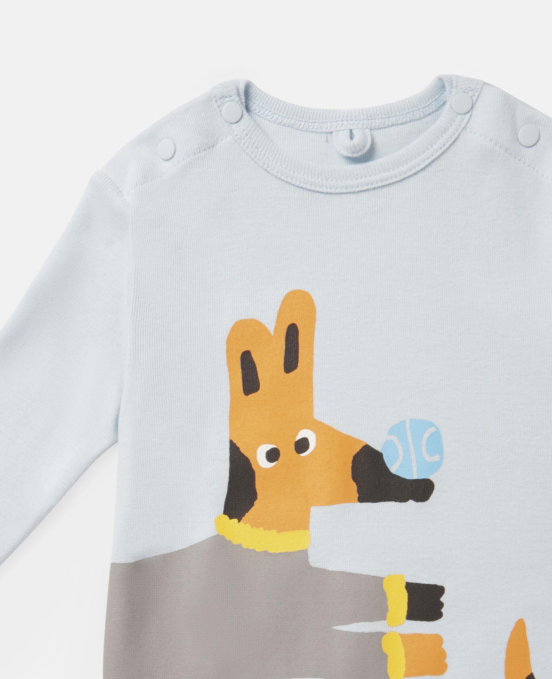 Set aus Strampelanzügen aus geripptem Jersey mit Hundemotiv-Bunt-large image number 2