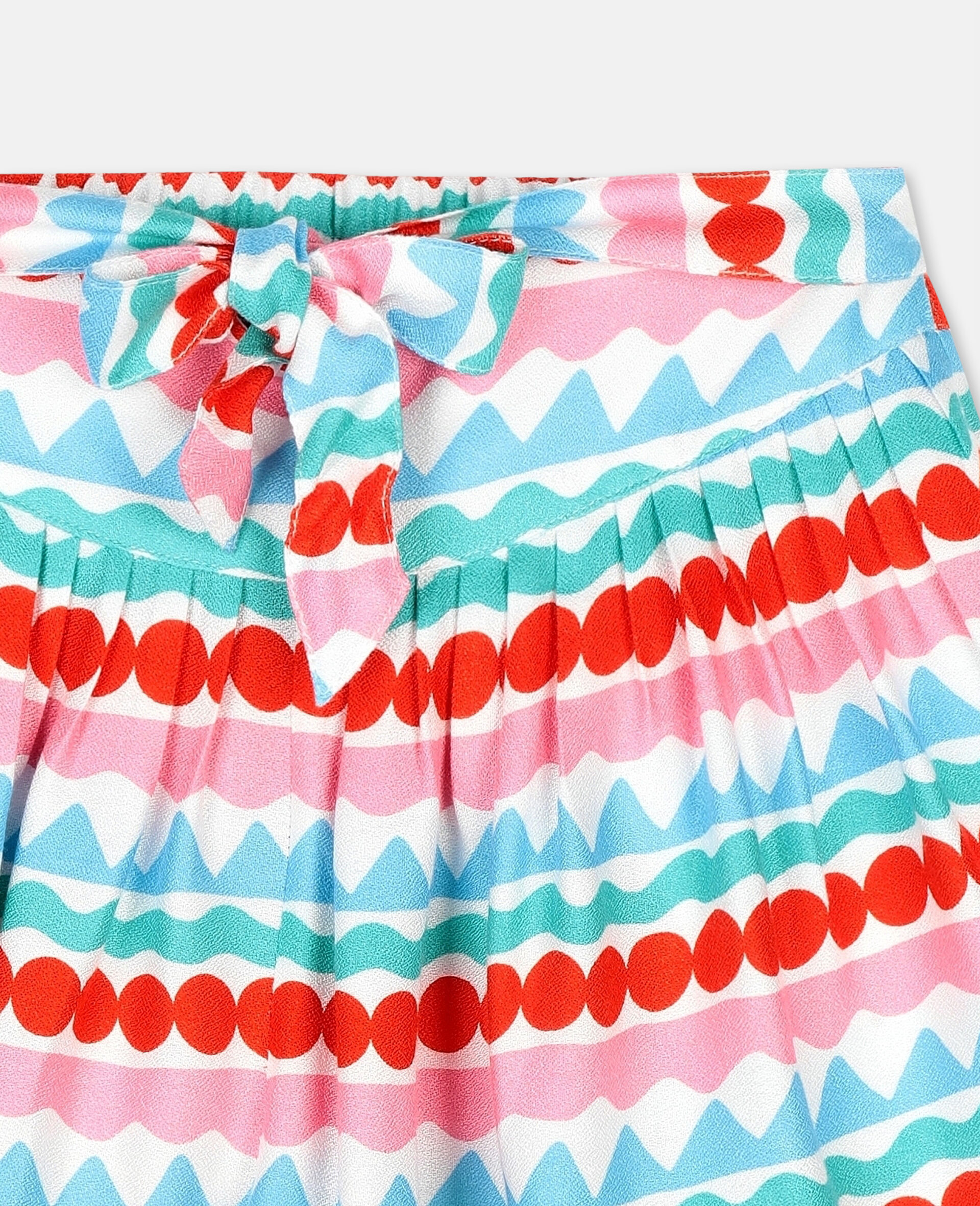 Graphic Striped Shorts-Multicolour-large image number 1