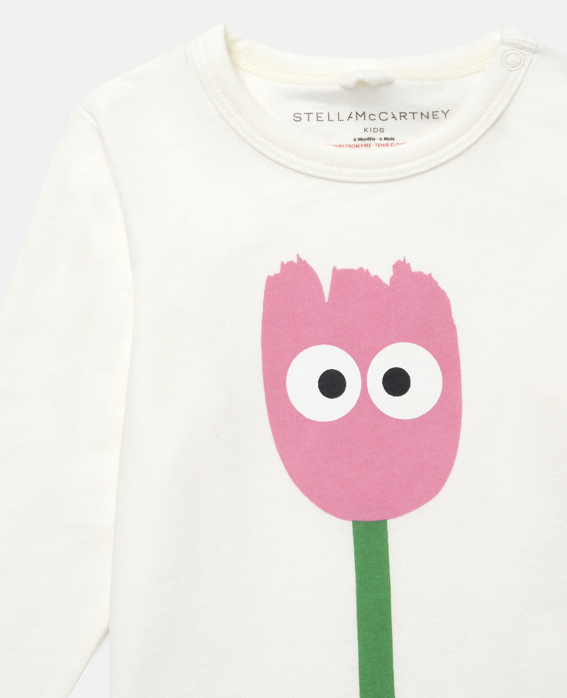 Tulip Cotton Top-White-large image number 1