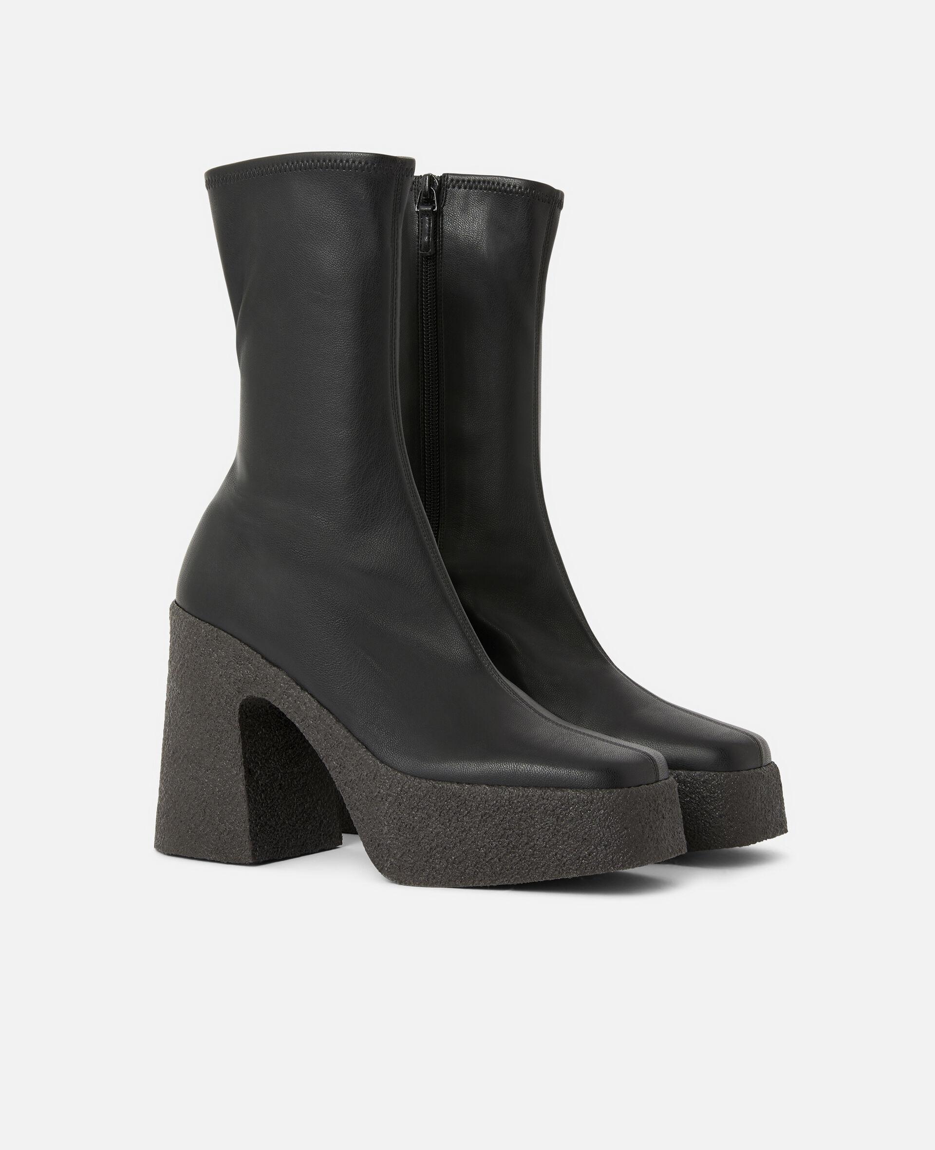 粗跟踝靴 -黑色-large image number 1