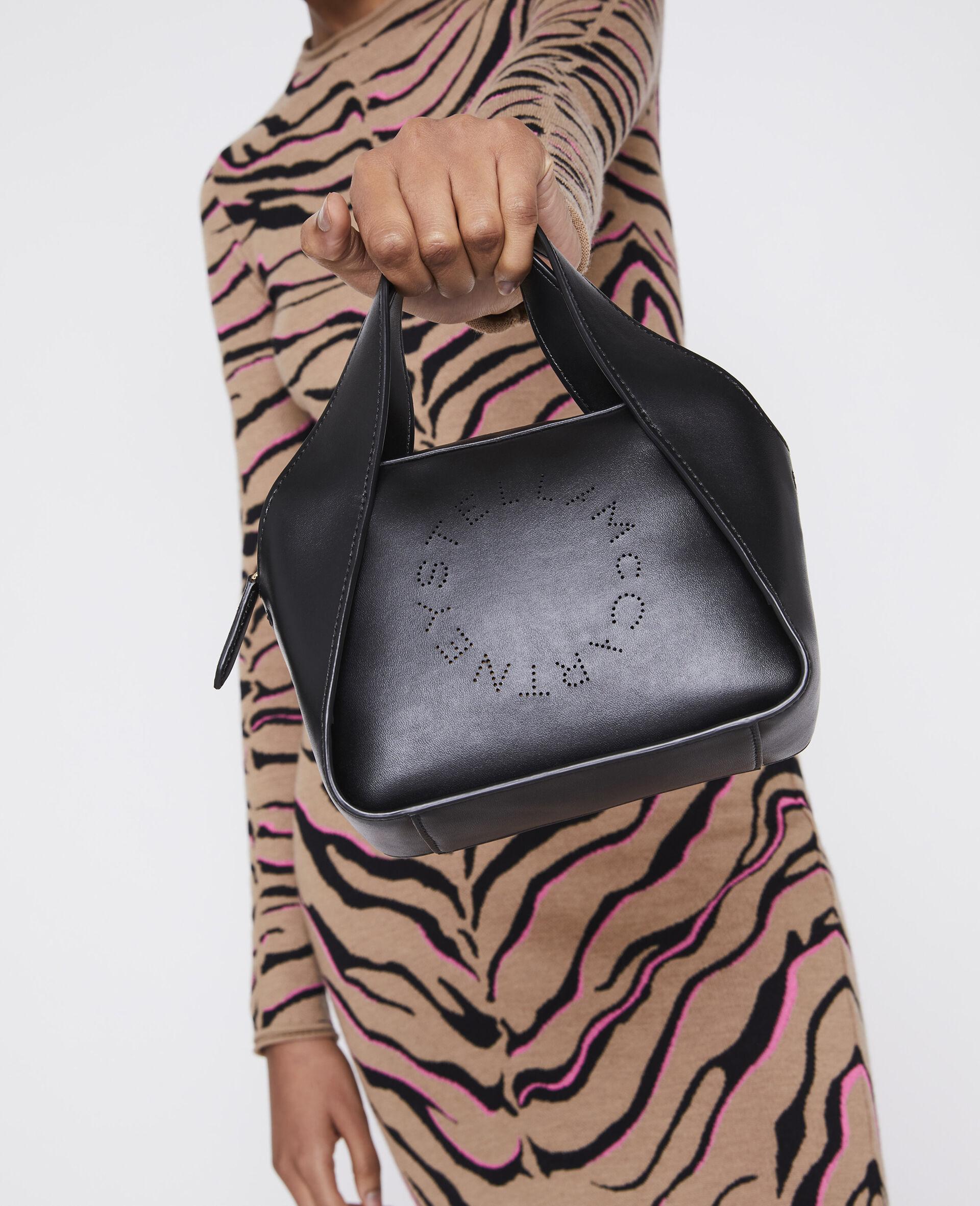 Mini Stella Logo Crossbody Bag -Black-large image number 3