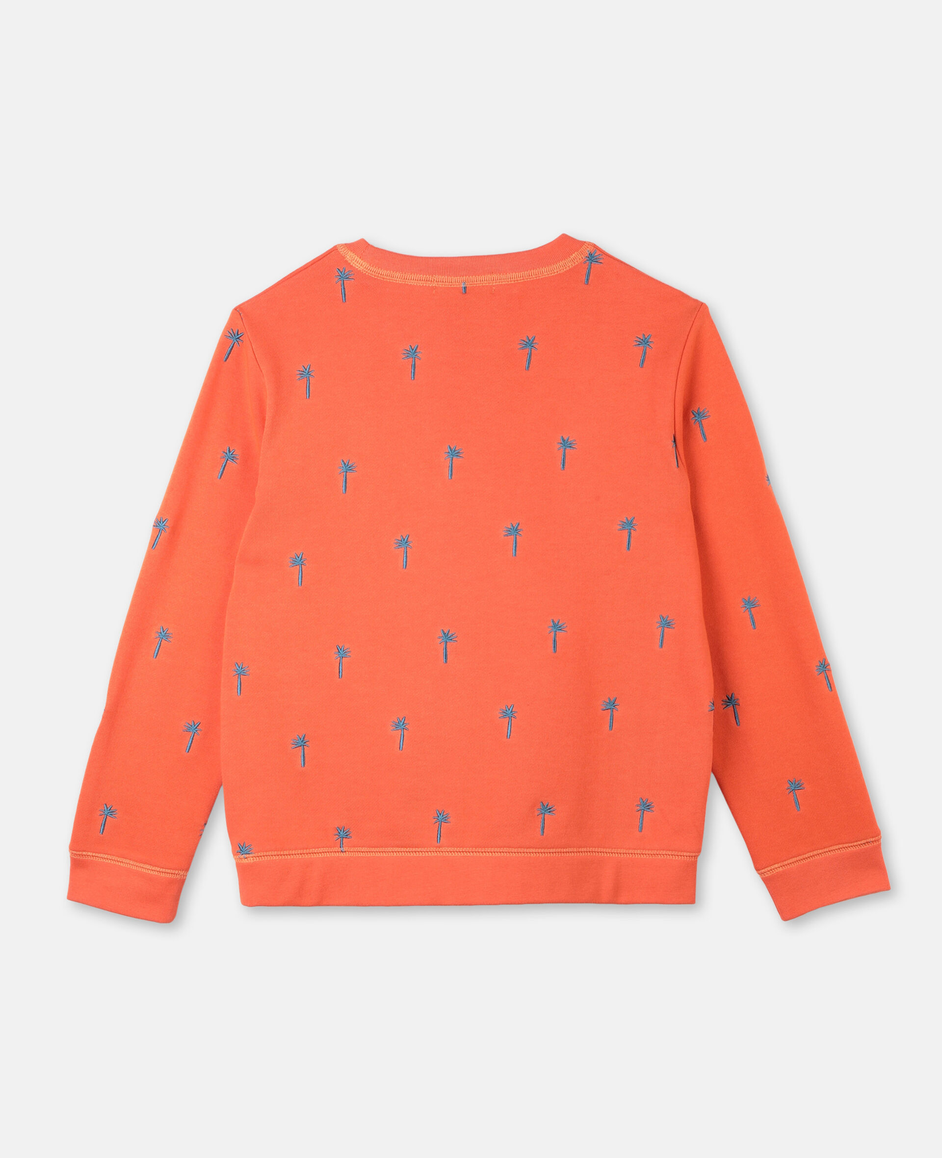 Embroidered Palm Cotton Sweatshirt -Red-large image number 3