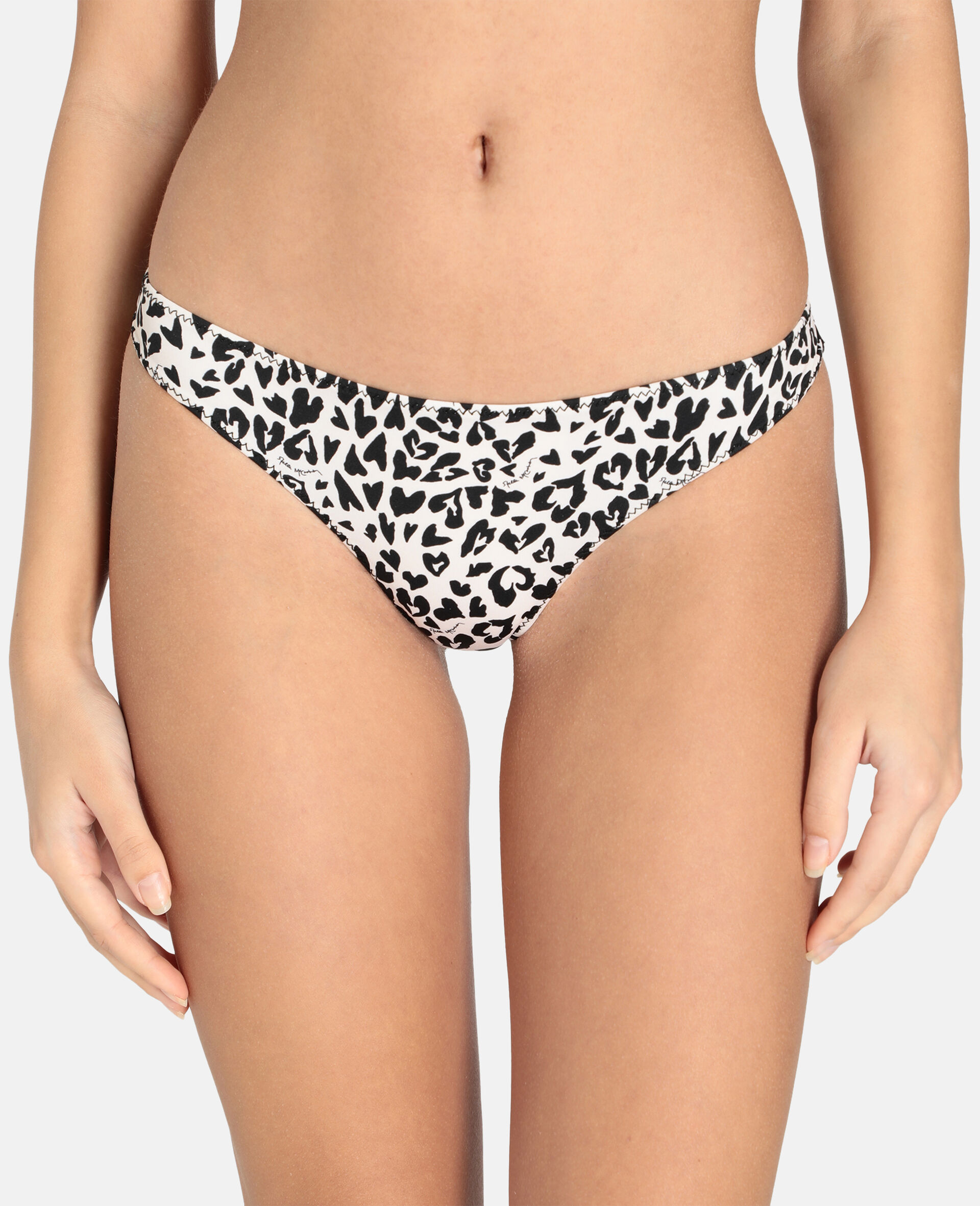 Animal Mix Brazilian Bikini Brief-Black-large image number 3