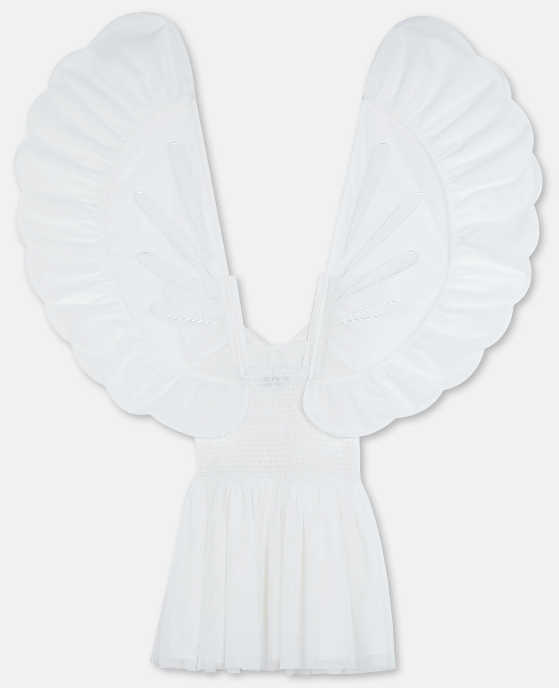 Butterfly Tulle Dress-White-large image number 3