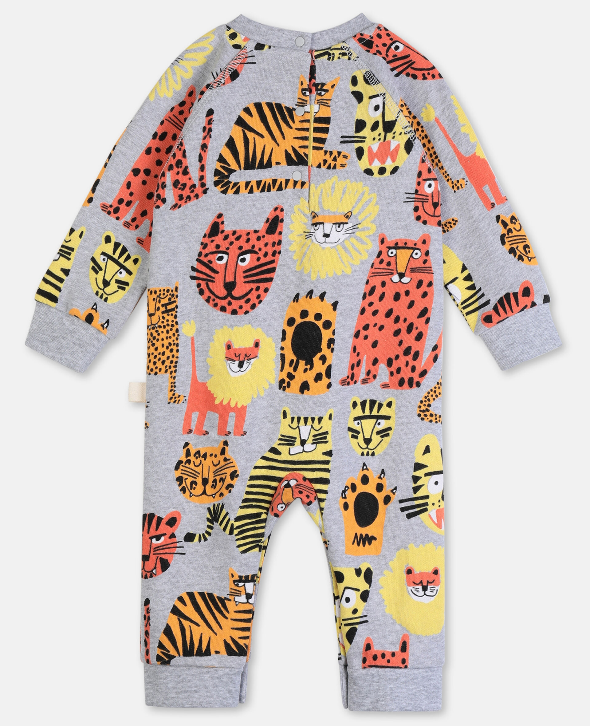 Wild Cats Cotton Jumpsuit-Multicolour-large image number 3