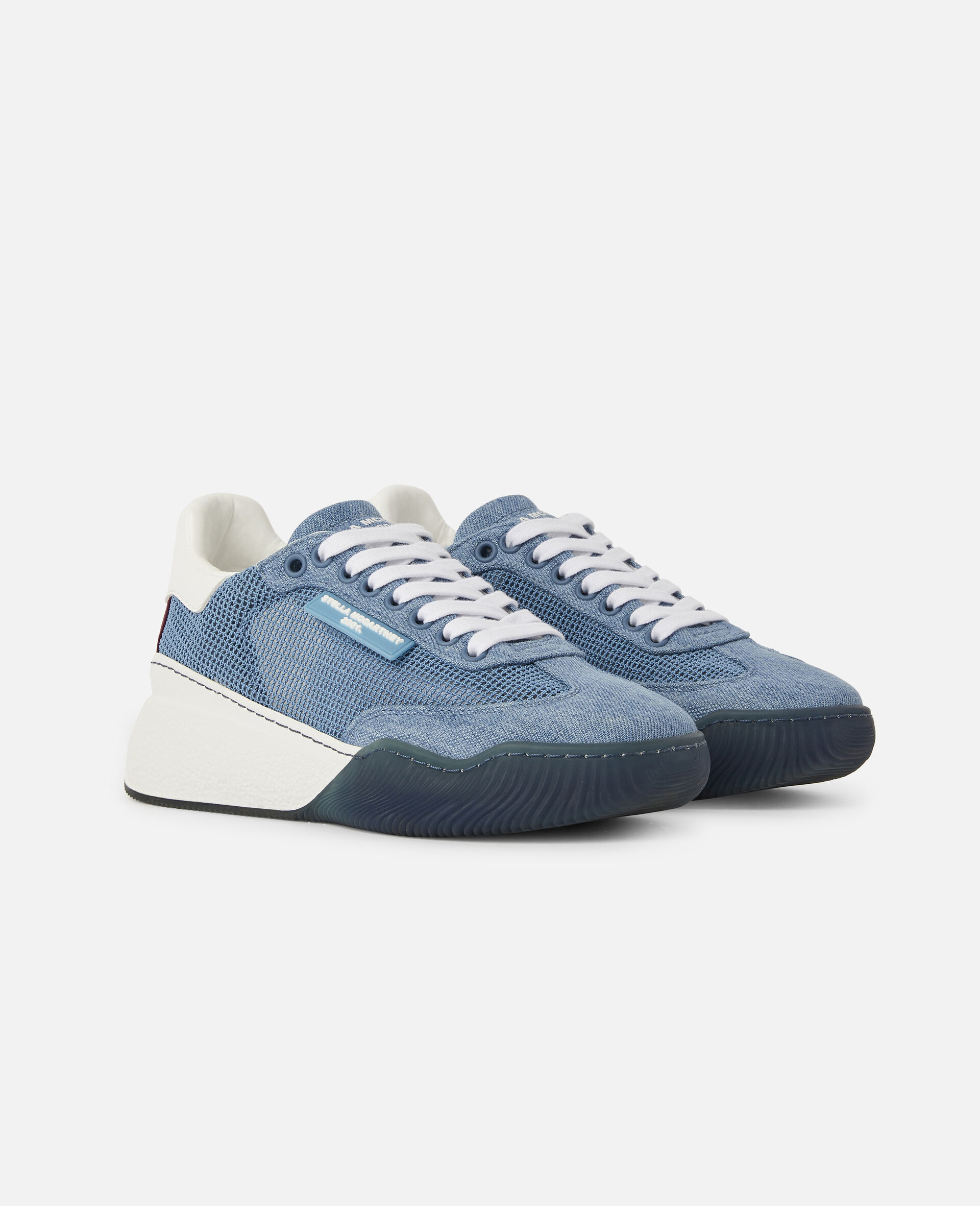 Loop Square Mesh Sneakers -Blue-large image number 1