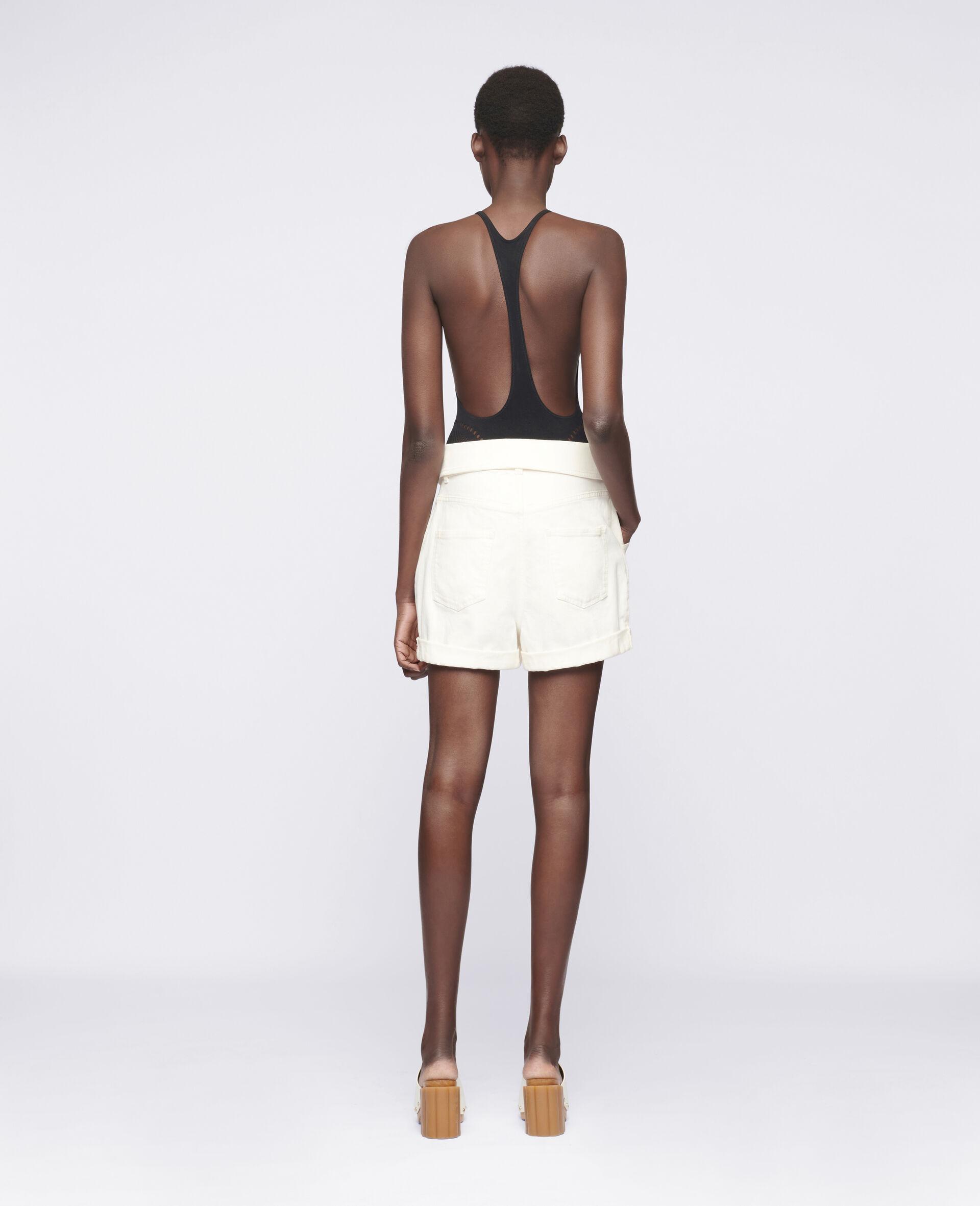 Denim-Shorts mit Print-Weiß-large image number 2