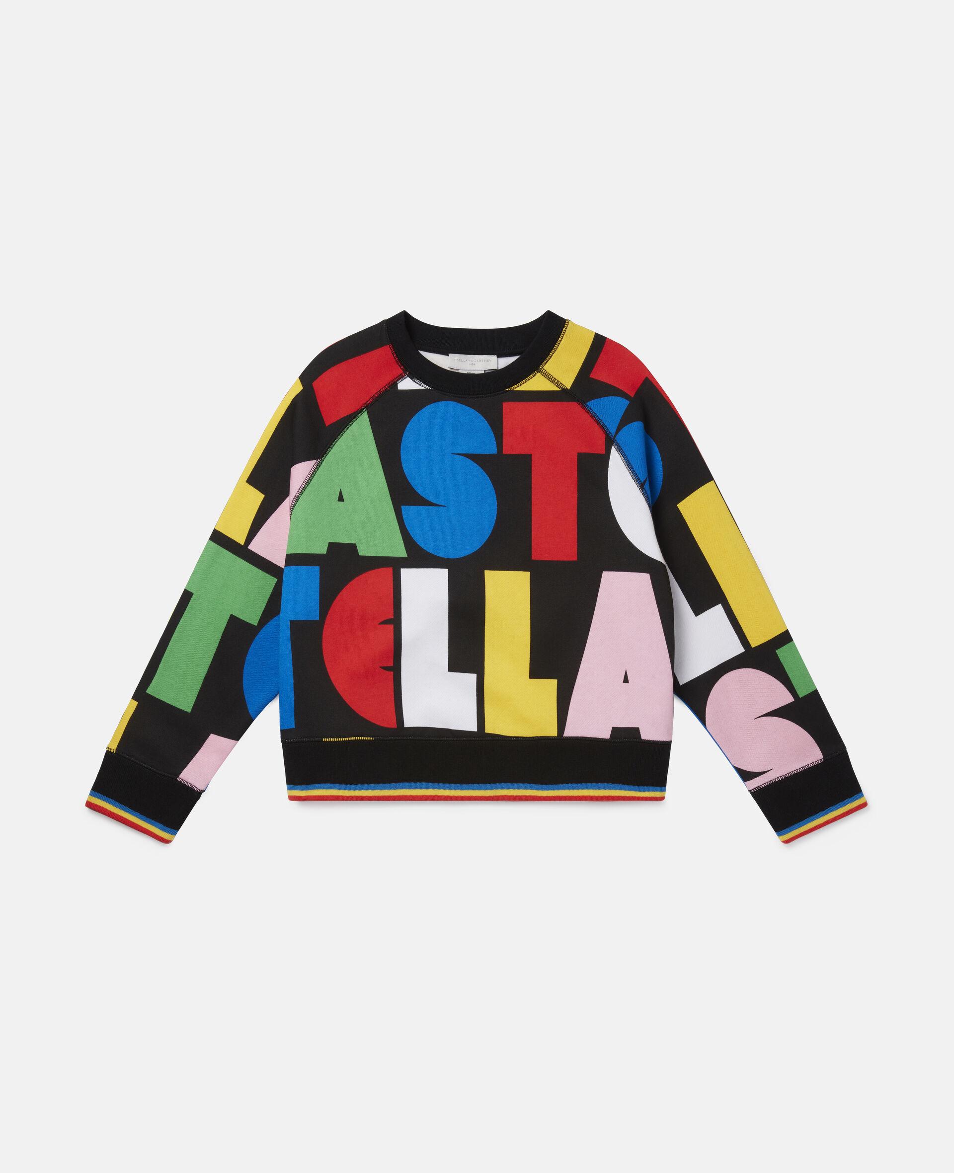Stella Oversize Fleece Sweatshirt -Multicolour-large image number 0