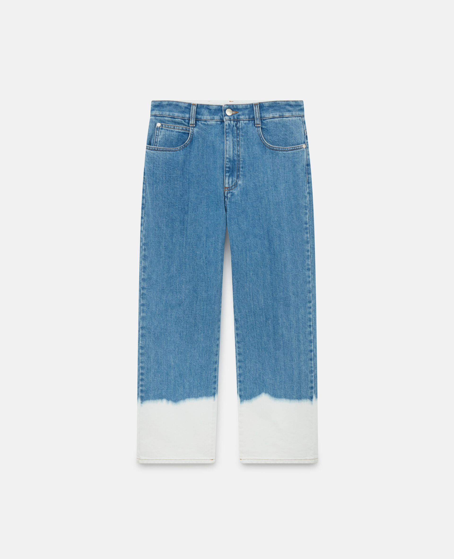 Dip Faded Jeans -Blue-large image number 0