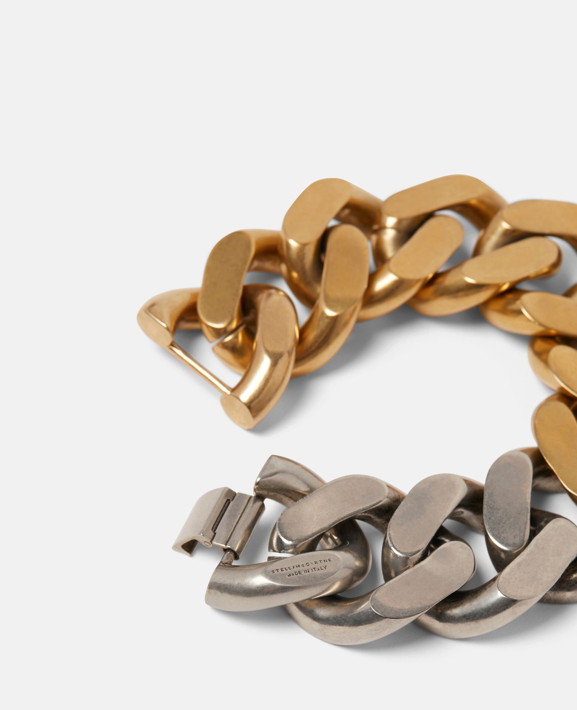 Bicolor Chunky Bracelet-Yellow-large image number 2