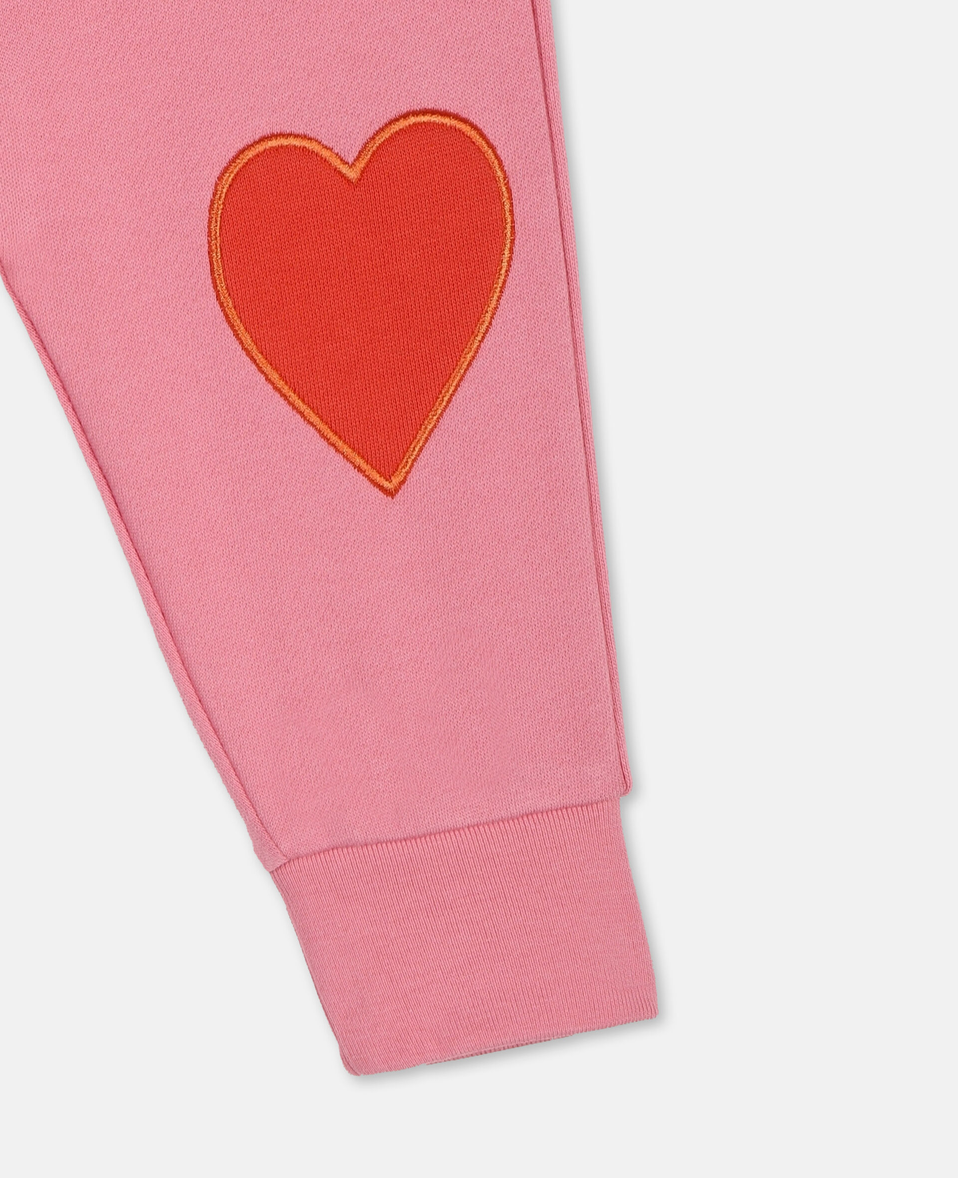 Hearts Cotton Sweatpants -Pink-large image number 1