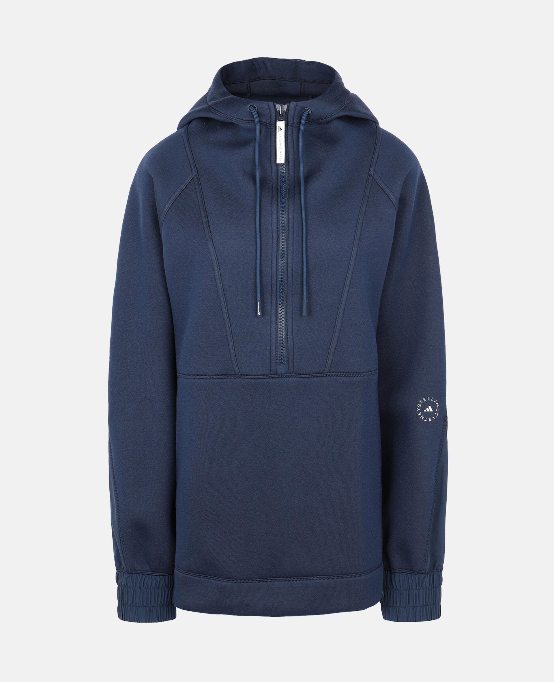 Blue Half-zip Hoodie-Blue-large image number 0