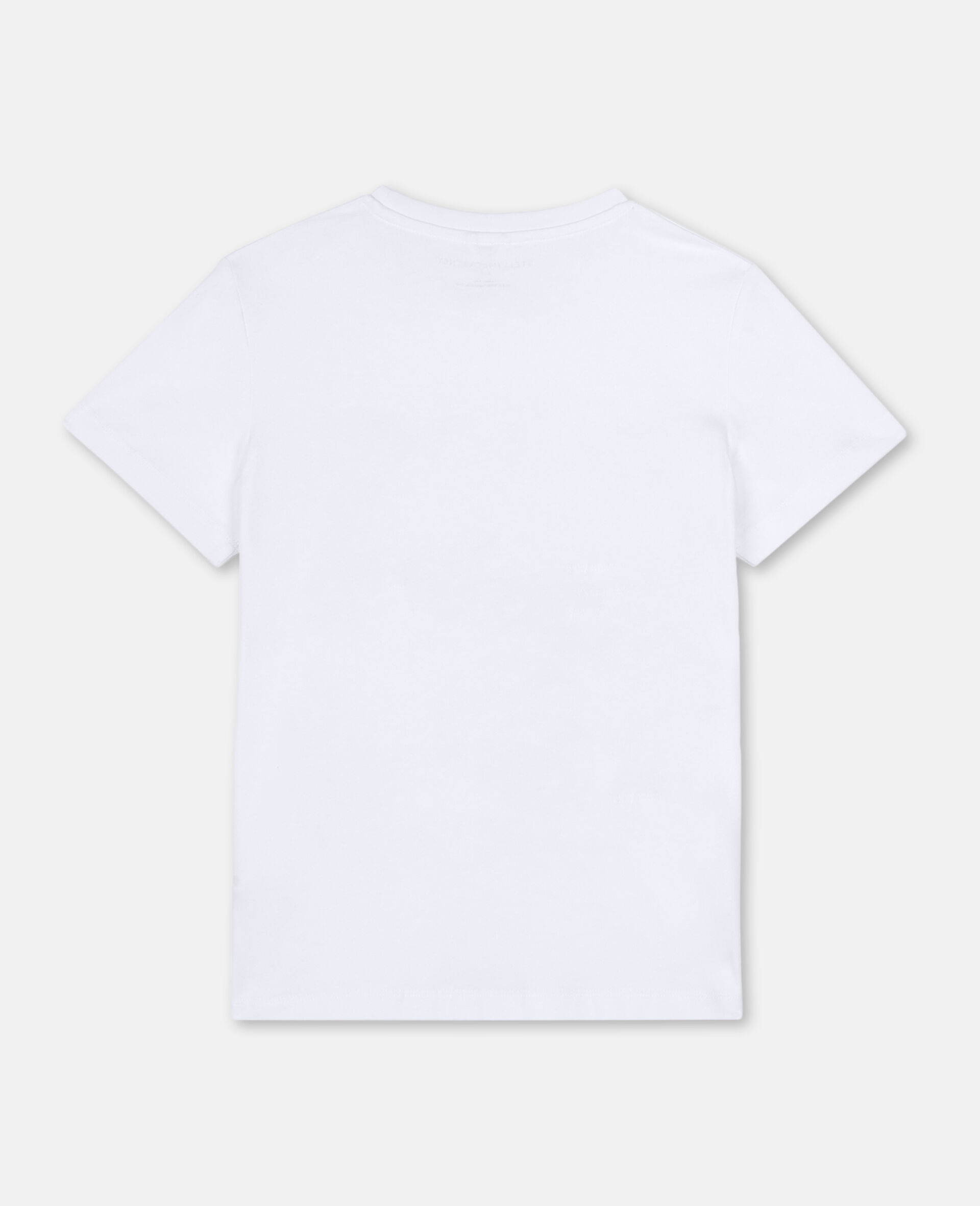 Baumwoll-T-Shirt mit Flamingos-Weiß-large image number 3