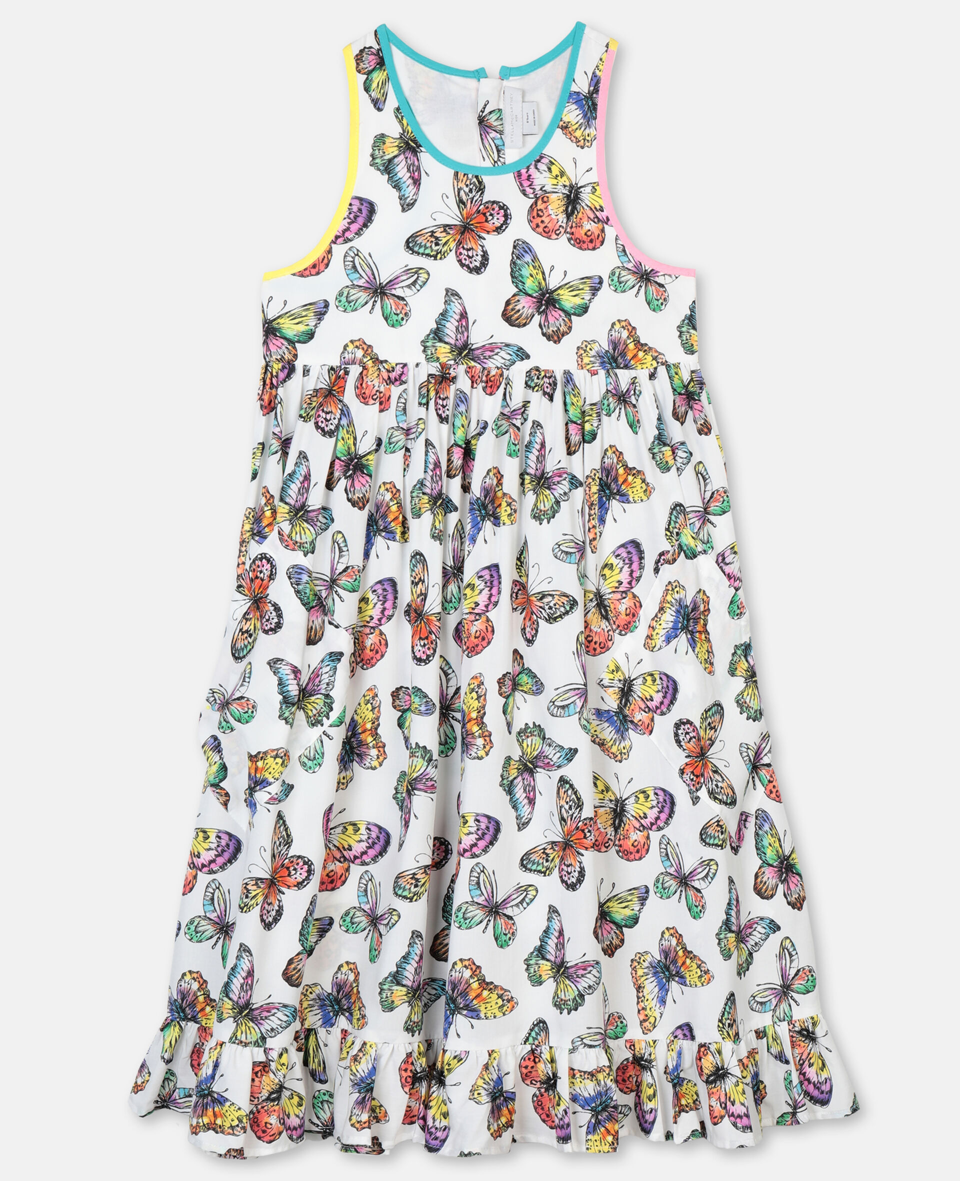 Butterfly Viscose Dress-Multicoloured-large image number 0