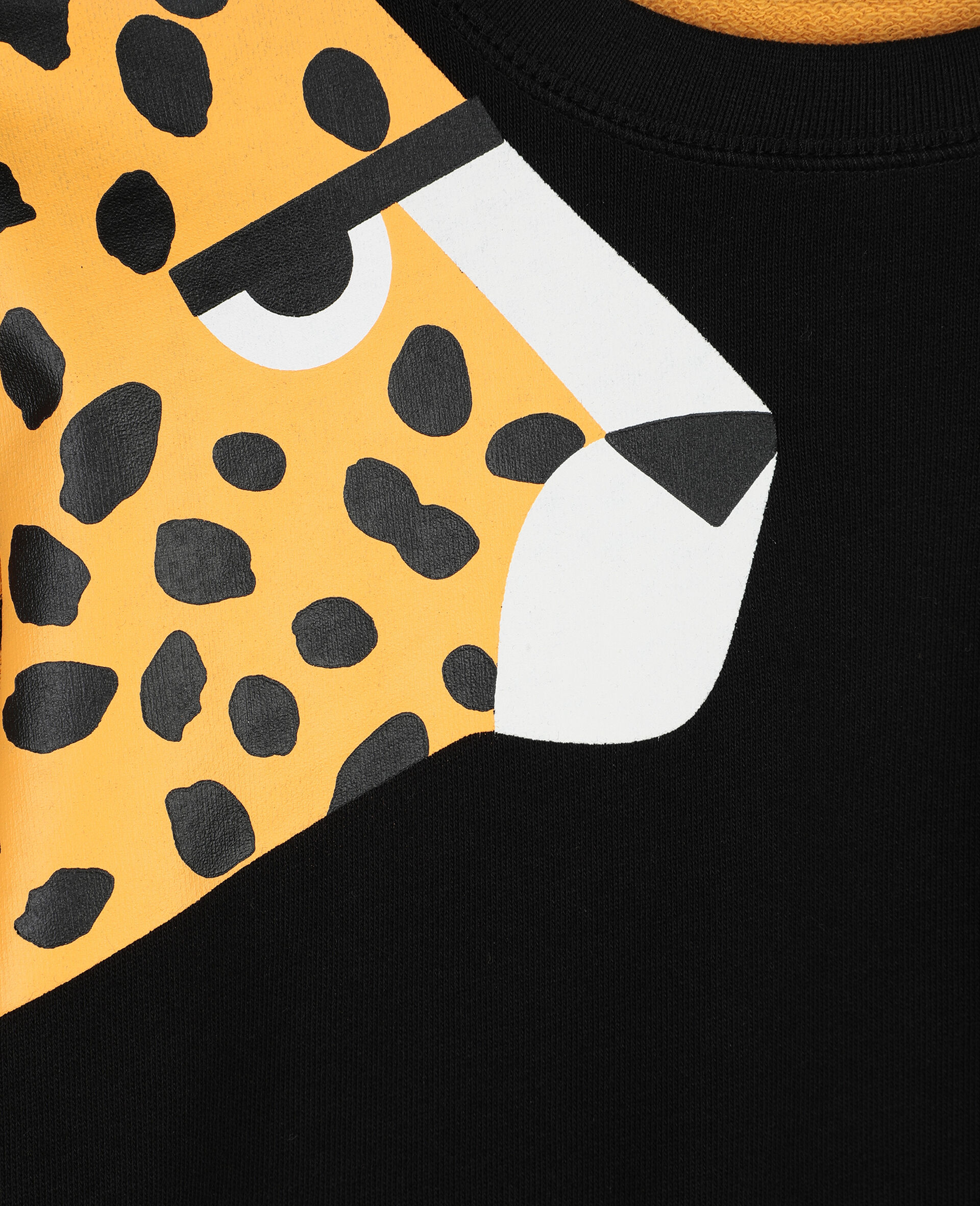 Cheetah Dots Cotton Fleece Sweatshirt -Multicoloured-large image number 1