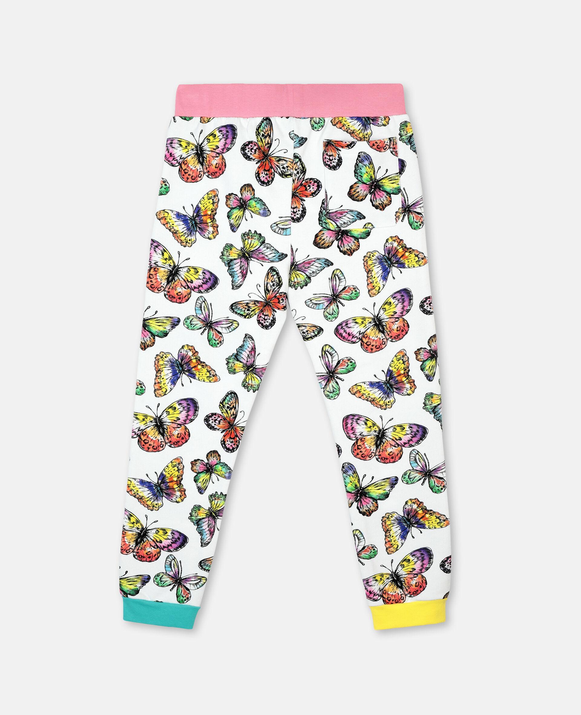 Butterfly棉质抓绒运动裤 -Multicolored-large image number 3