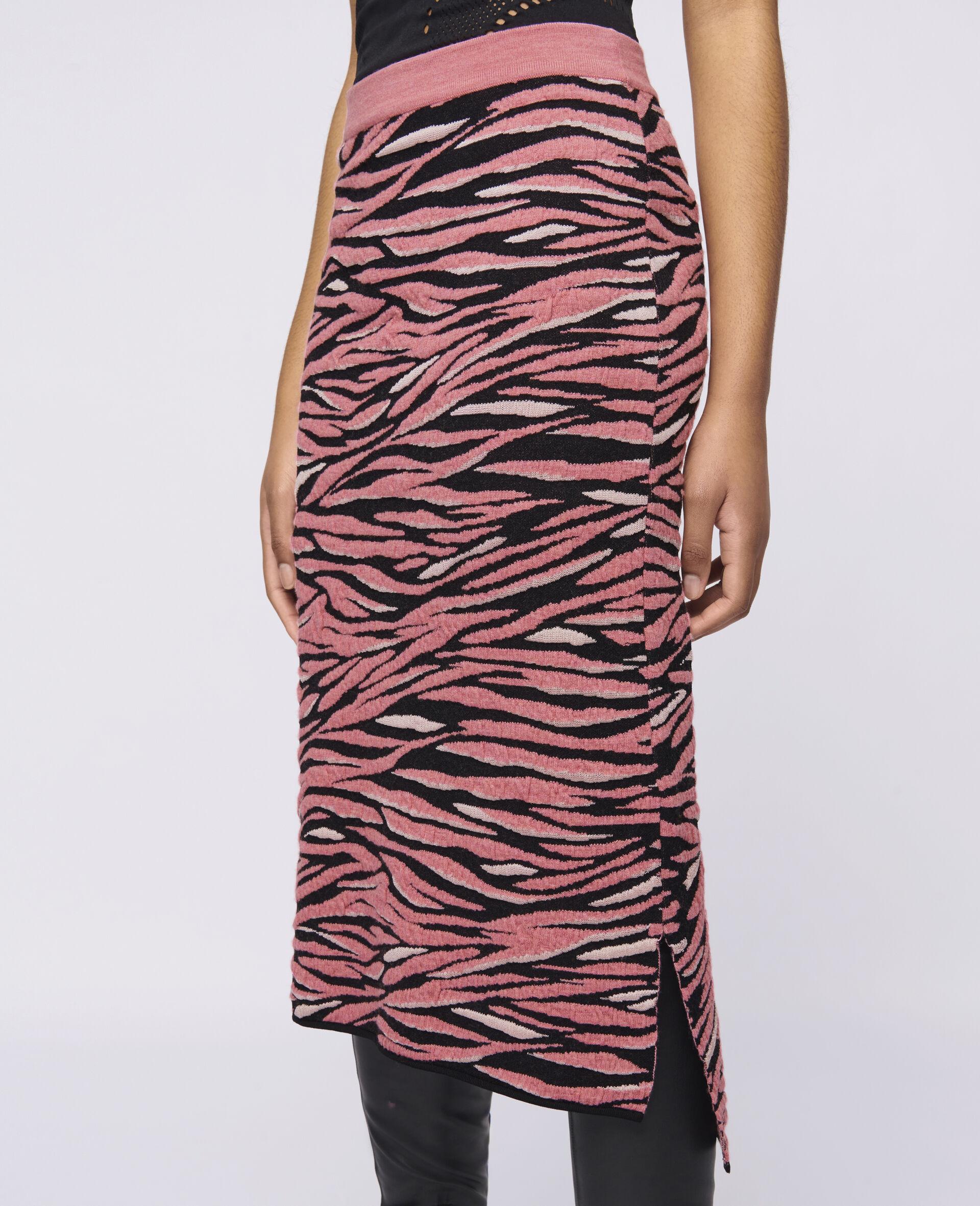 Animal Pattern Skirt-Brown-large image number 3