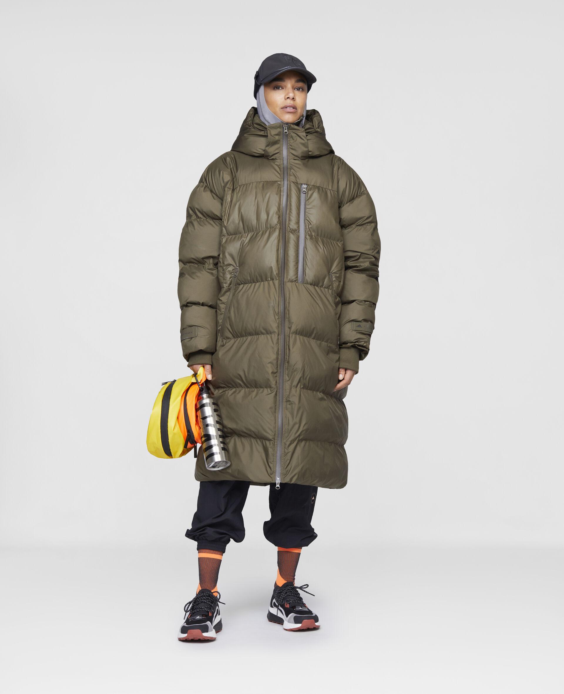 Long Training Puffer Jacket-Brown-large image number 1