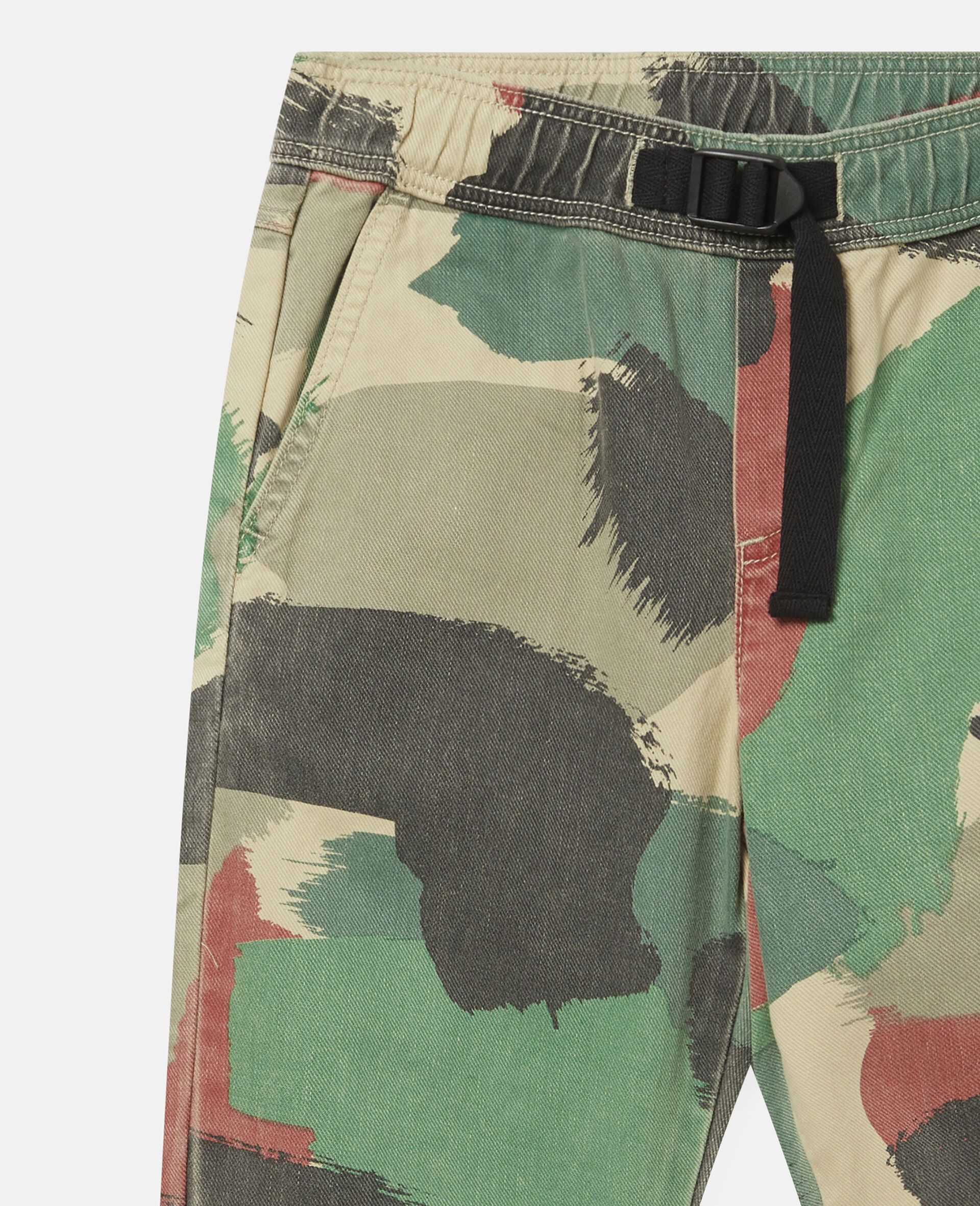 Camouflage Cargo Denim Trousers-Multicolour-large image number 0