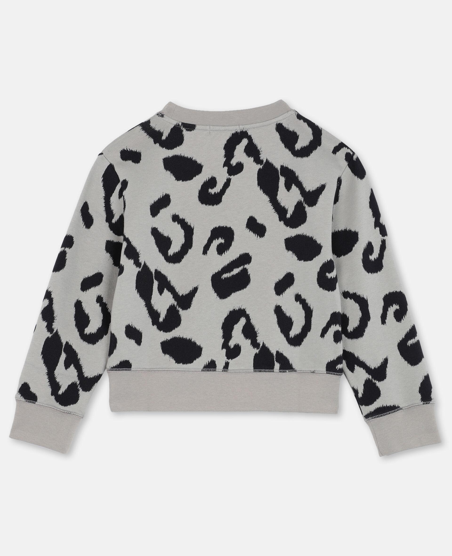 Sweat-shirt en molleton de coton léopard -Fantaisie-large image number 3