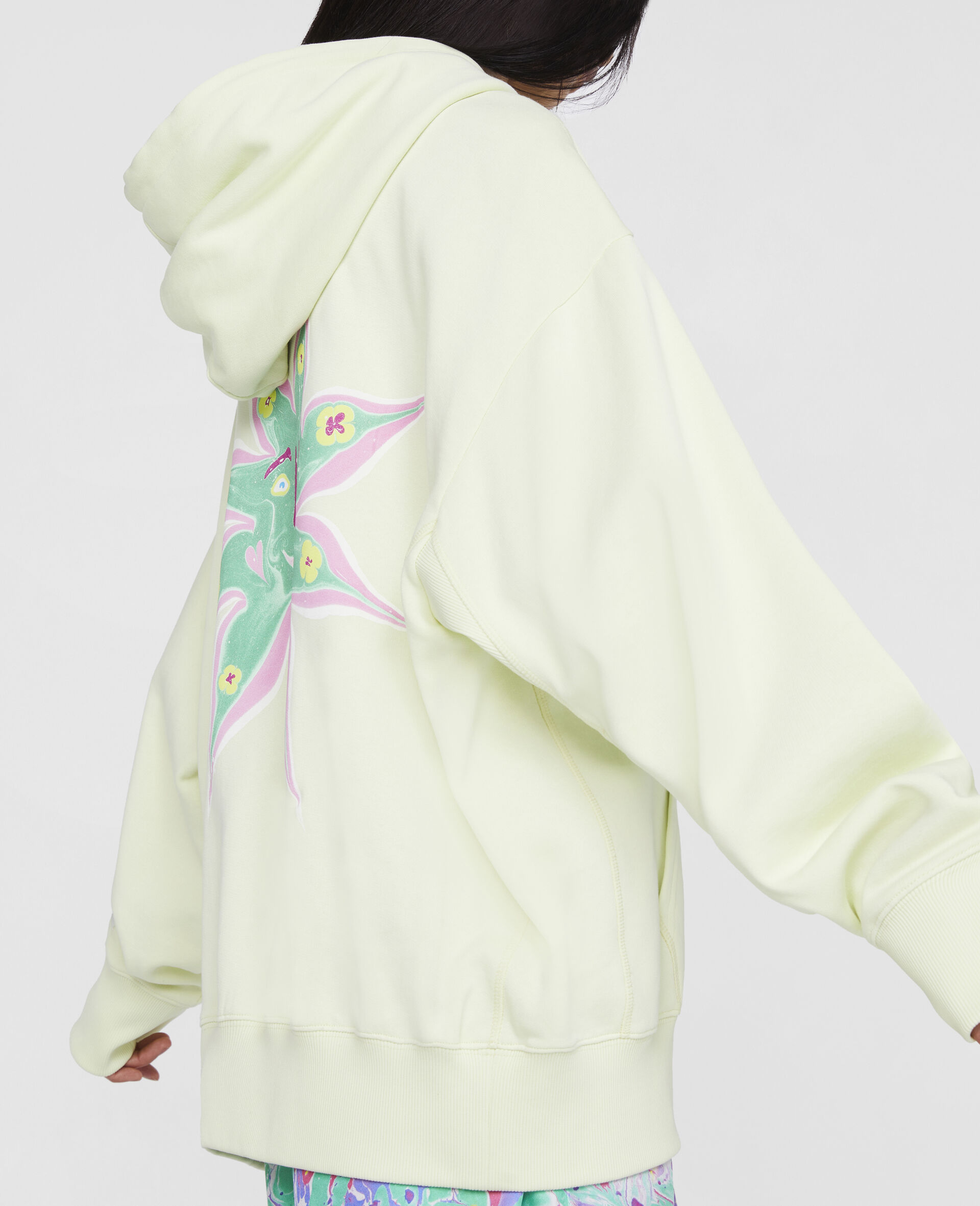 Myfawnwy Printed Hoodie -Yellow-large image number 4