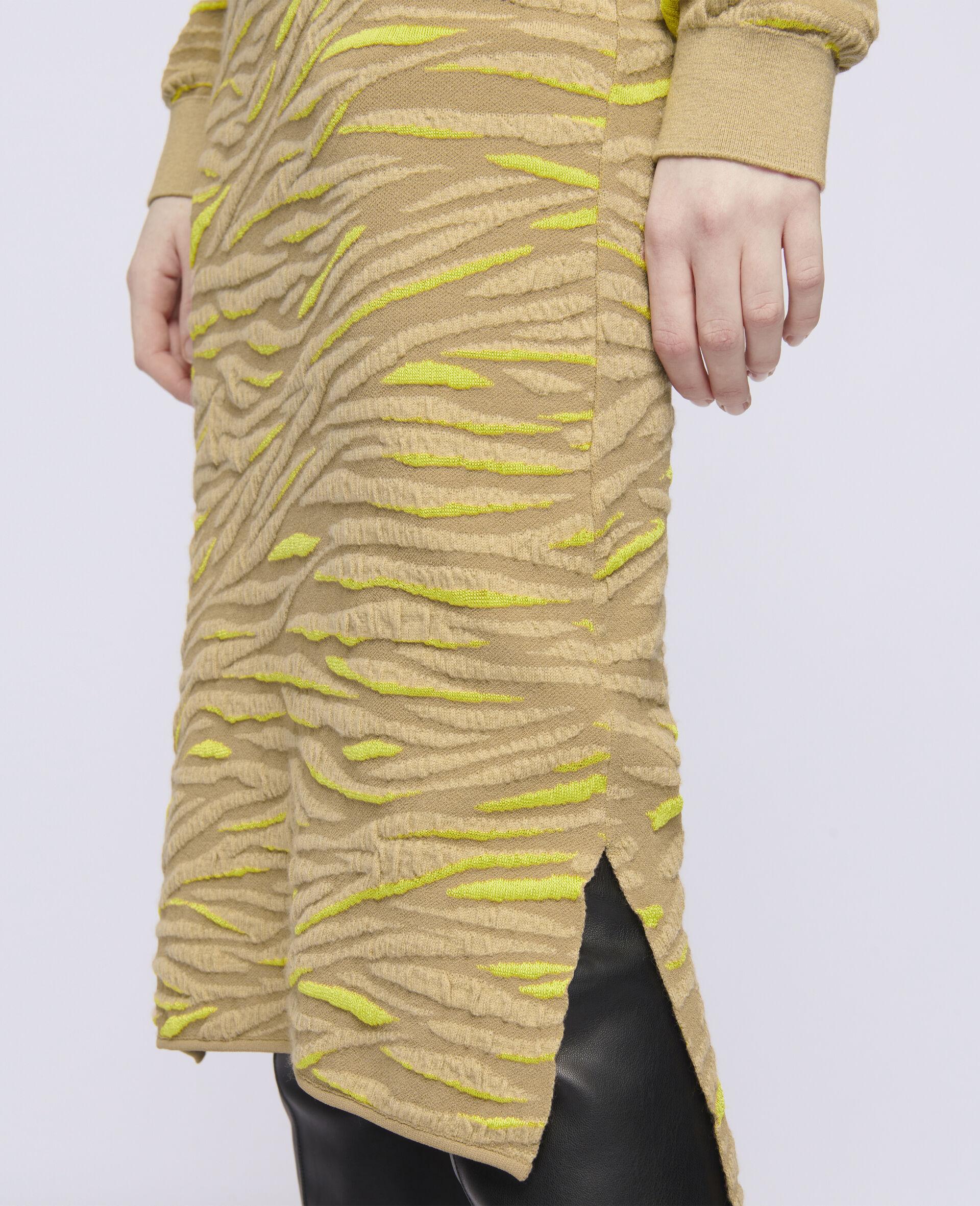 Jupe à motif animal-Marron-large image number 3