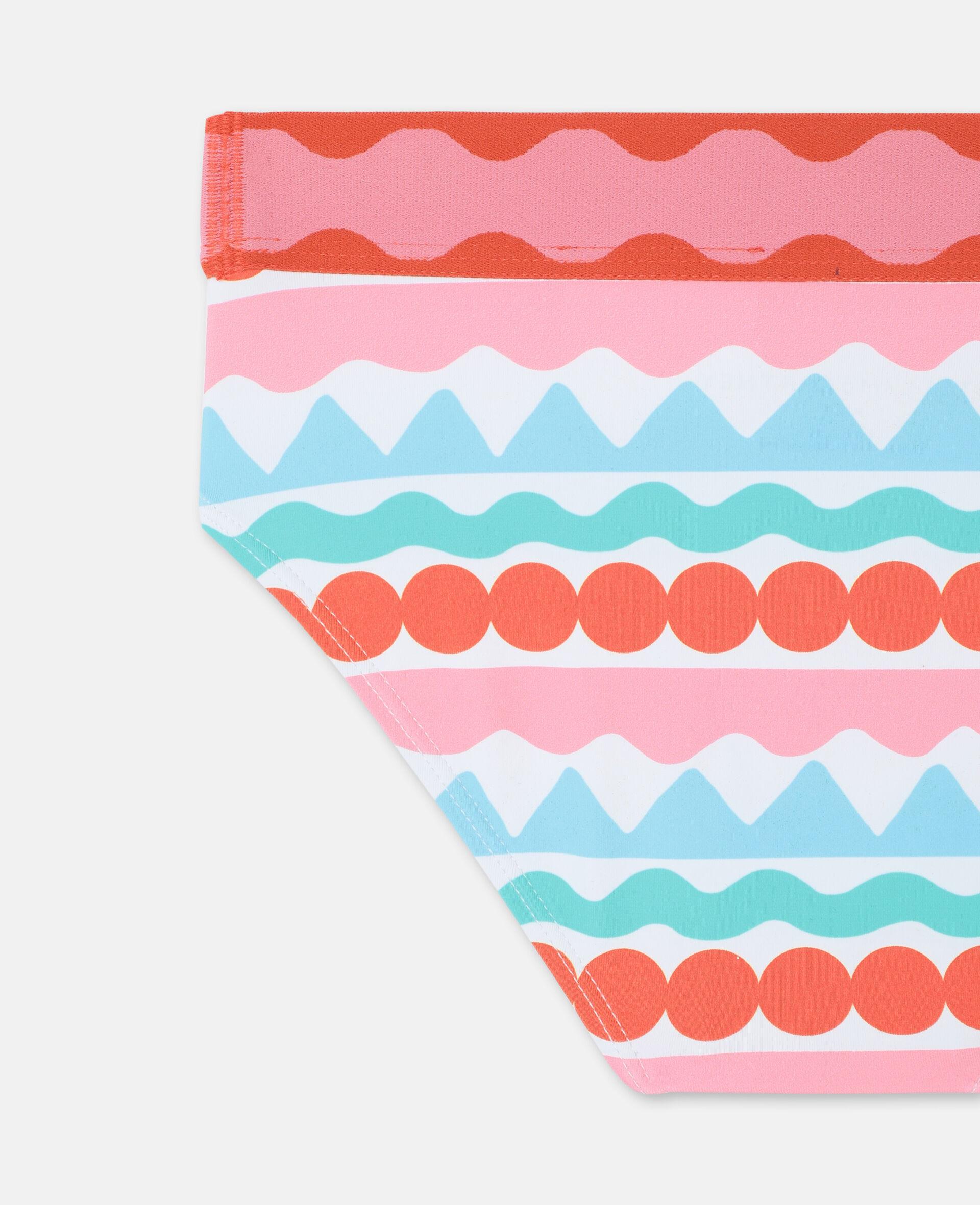 Bikini mit grafischen Streifen -Bunt-large image number 2