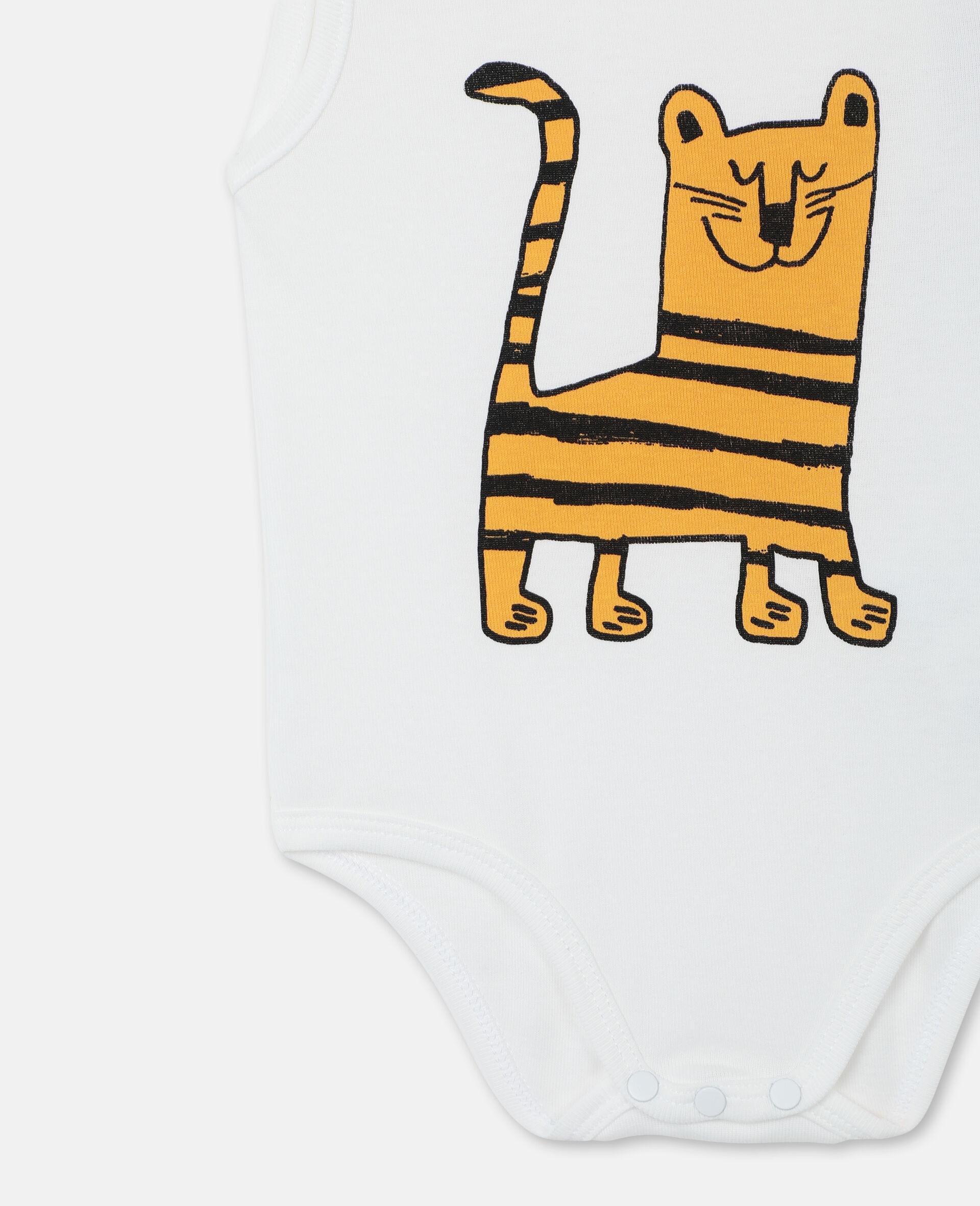 Body und Jumpsuit aus geripptem Jersey mit Wildkatzen-Print -Bunt-large image number 1