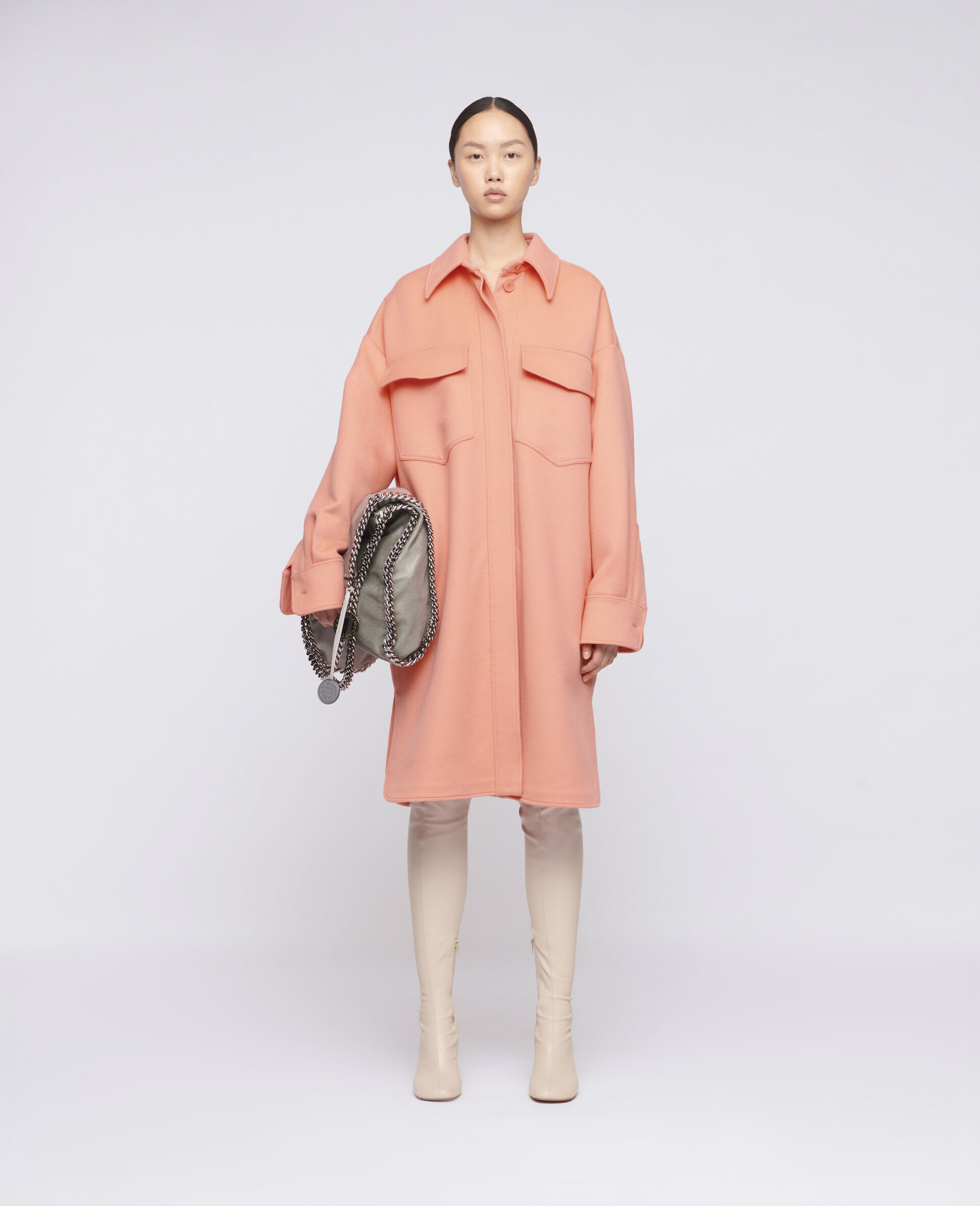 Linda Wool Coat -Orange-large image number 1