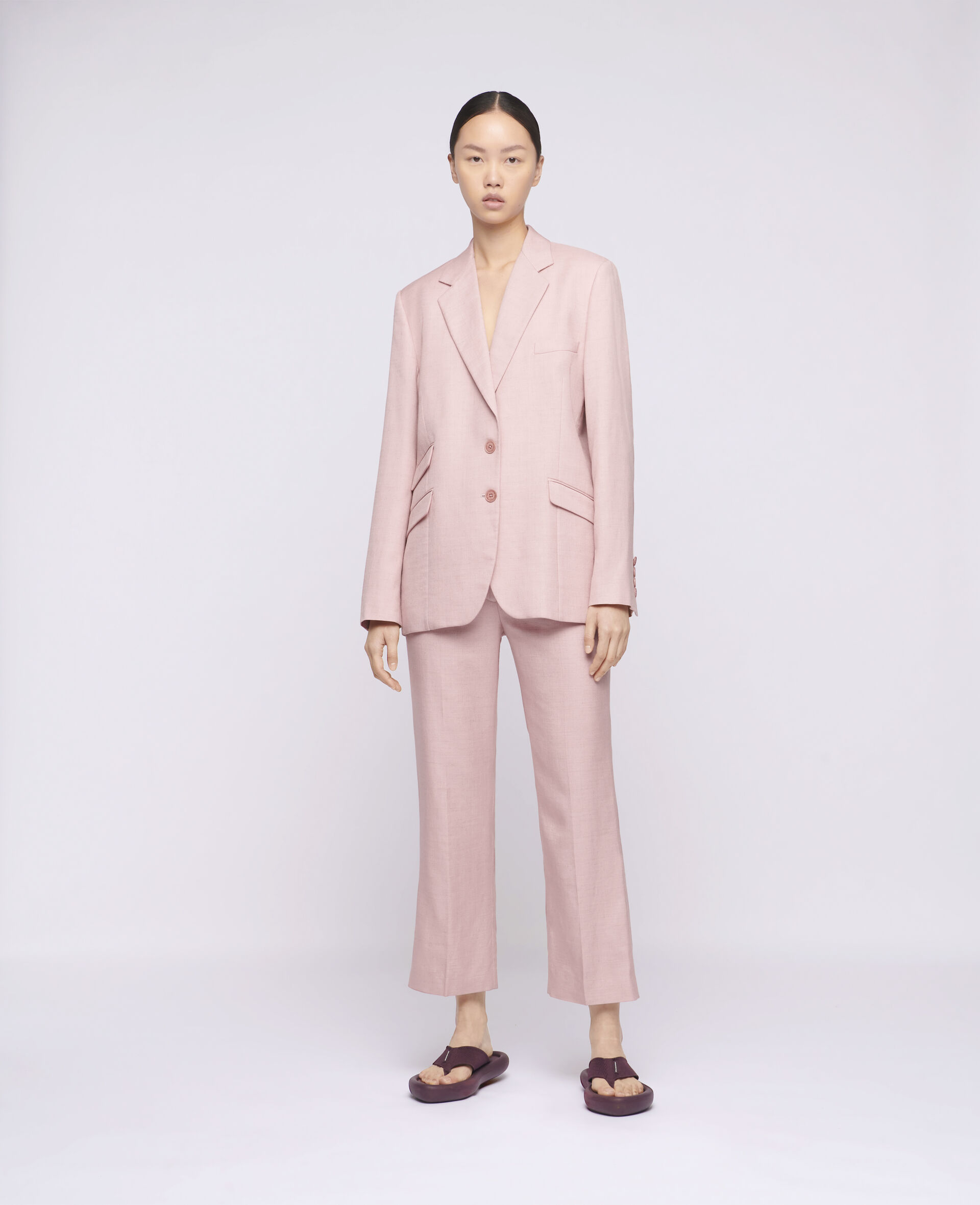 Carlie Tailored Trousers-Pink-large image number 1