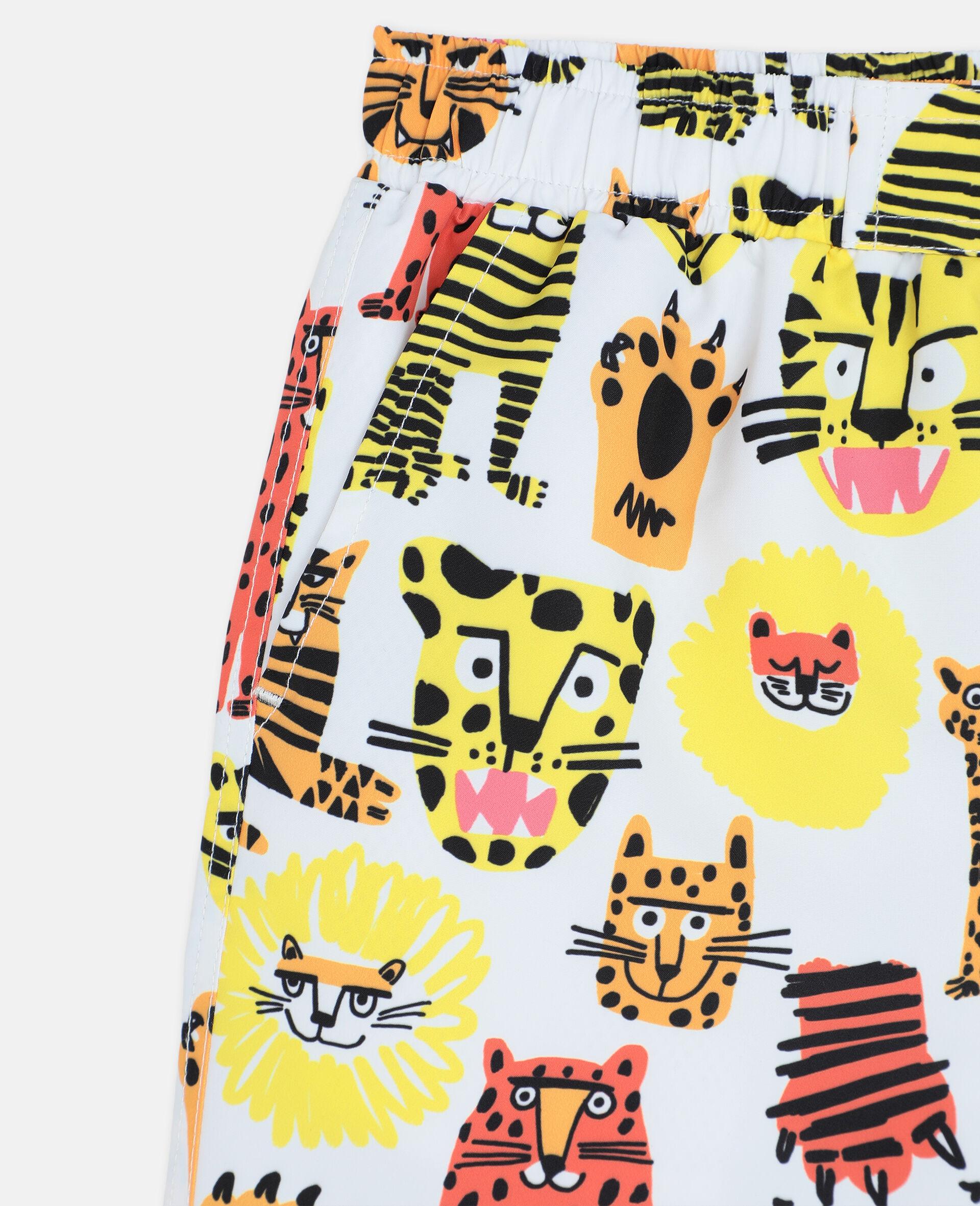 Wild Cats Swim Shorts-Yellow-large image number 1