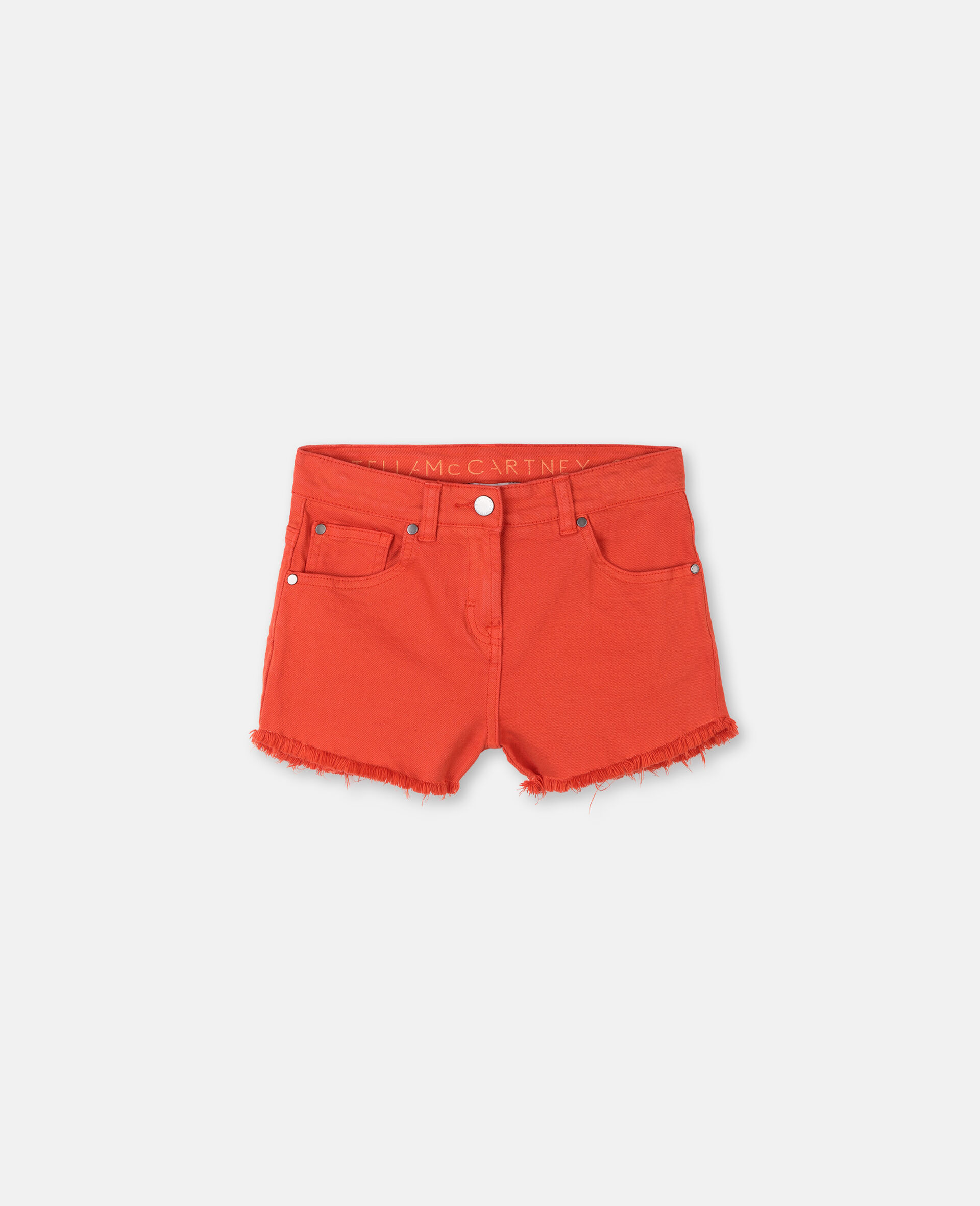 Denim Red Shorts -Red-large