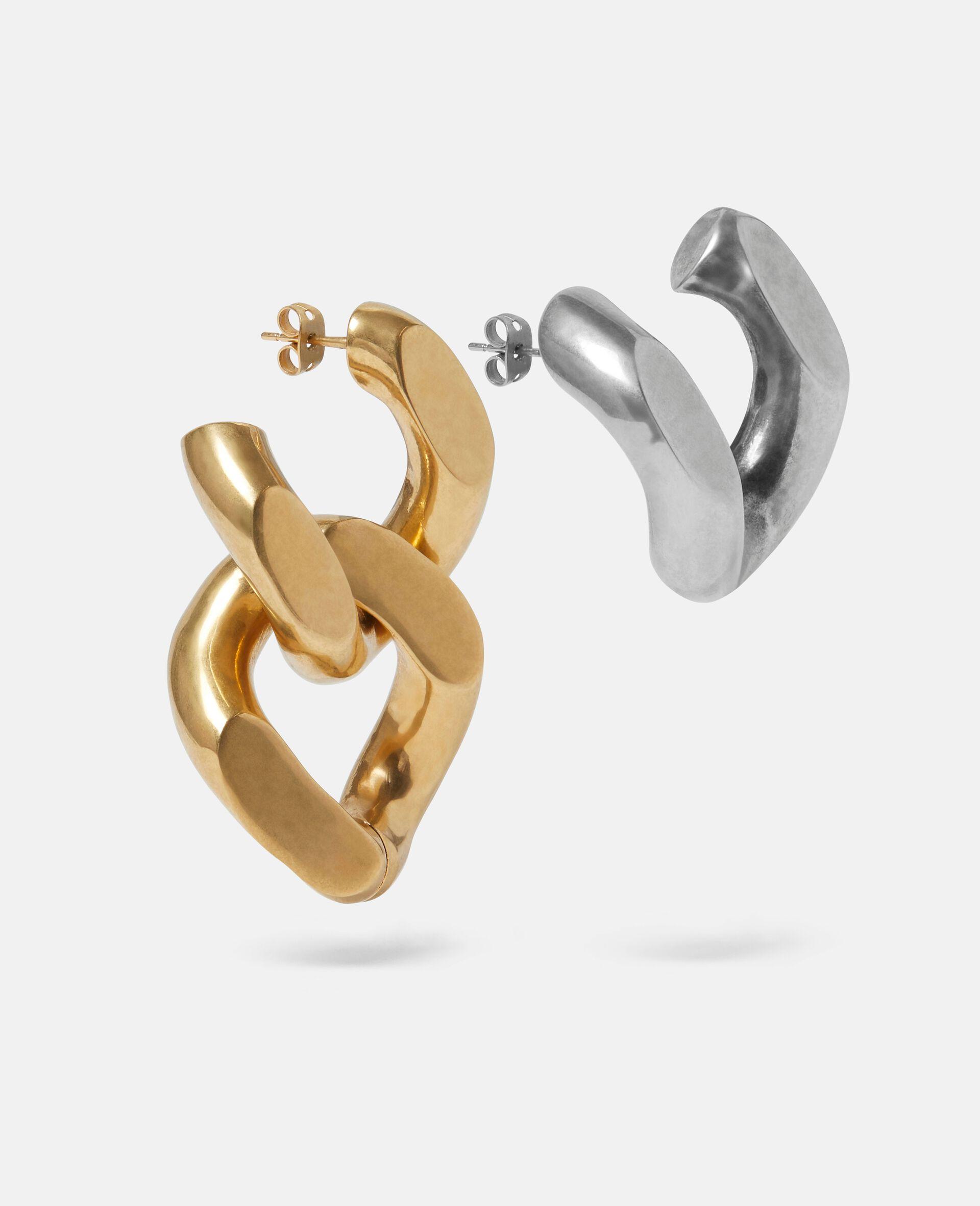 Brass & Aluminium Earrings-Yellow-large image number 1