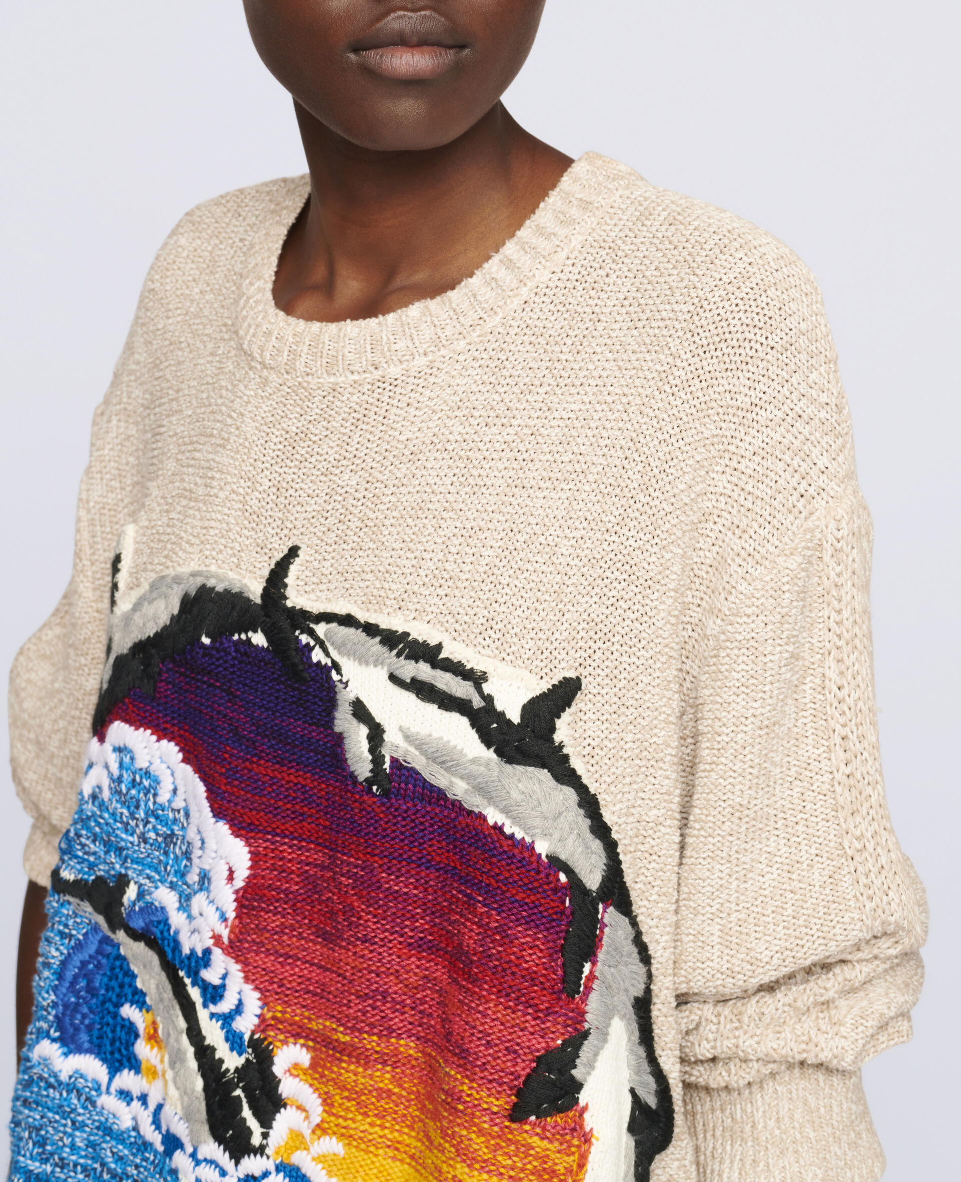 Intarsia Jumper-Multicolour-large image number 3