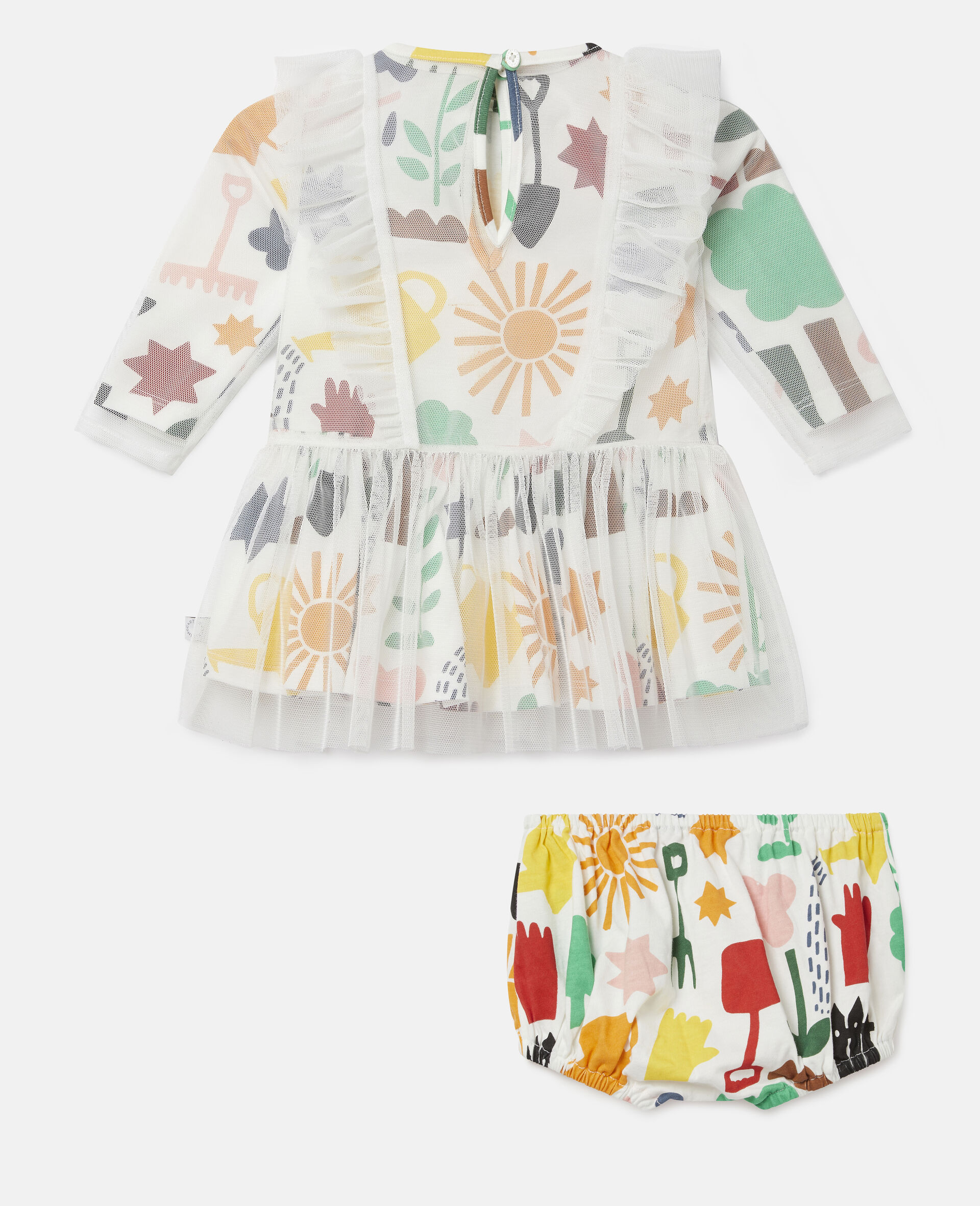 Garden Tulle Dress-White-large image number 3