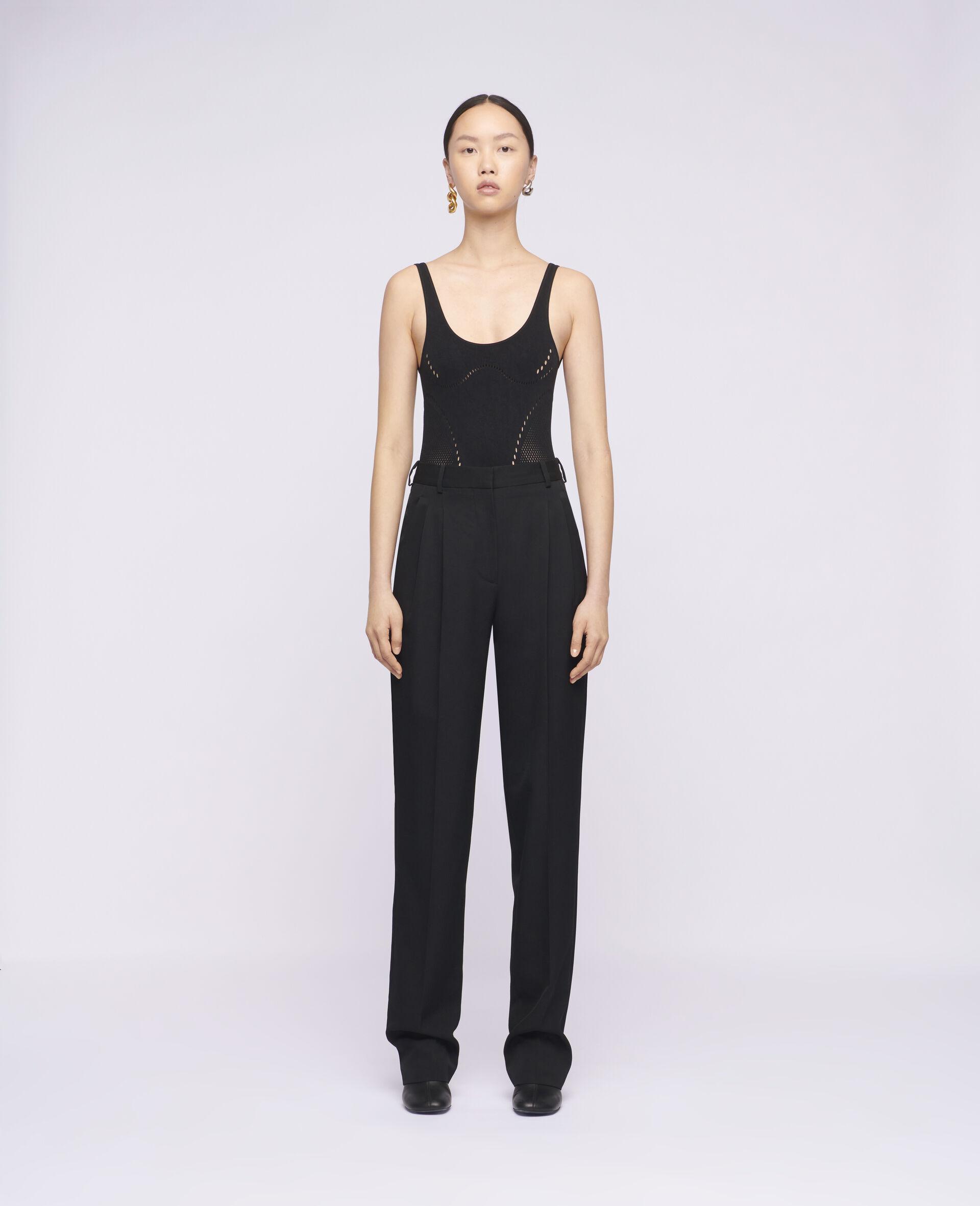 Pantaloni Lara in Lana-Nero-large image number 1