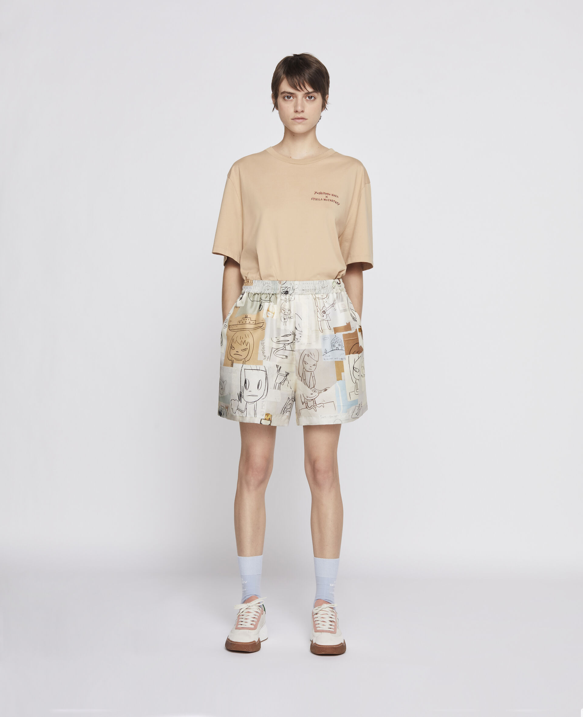 Nara 有机棉 T 恤 -棕色-large image number 3