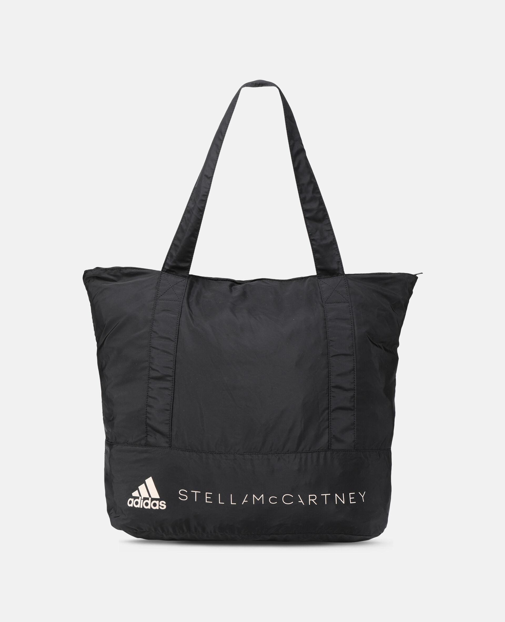 Black Printed Tote Bag -Black-large image number 4
