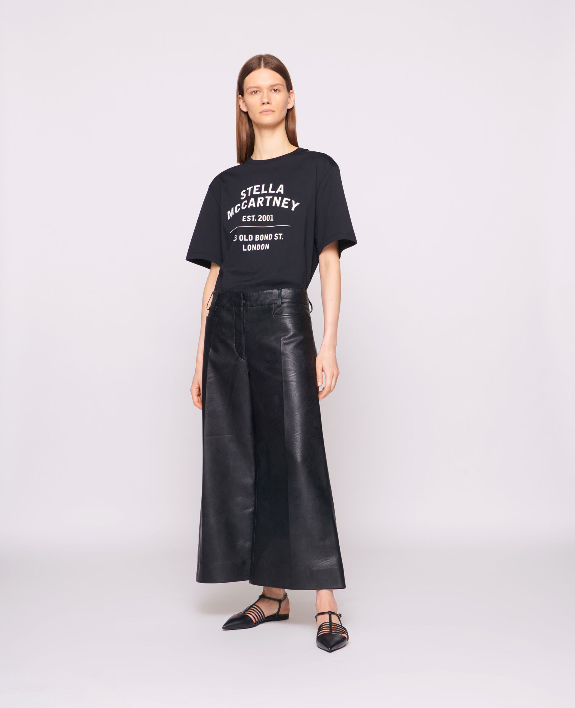 T-shirt 23 OBS en coton biologique-Noir-large image number 1