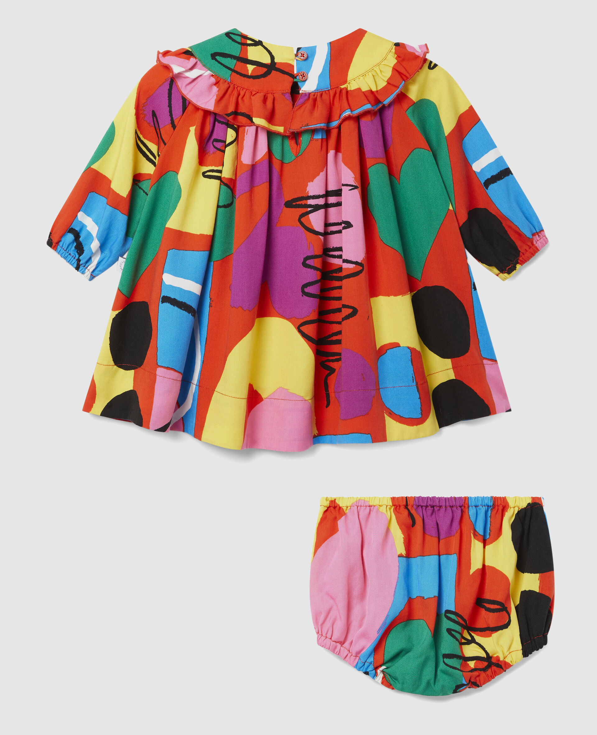 Painting Tencel Twill Dress-Multicolour-large image number 3