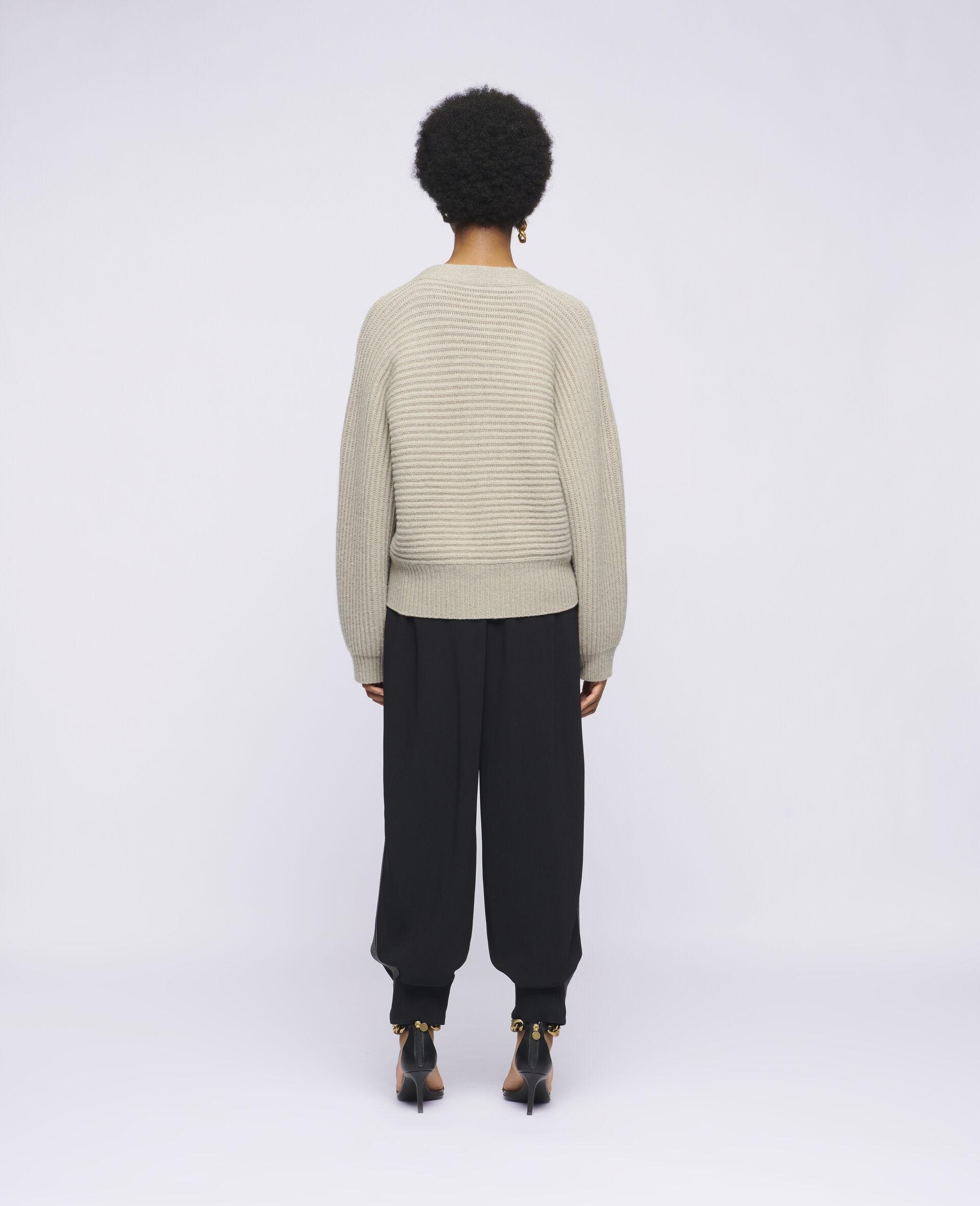 Soft Knit Cardigan -Beige-large image number 2