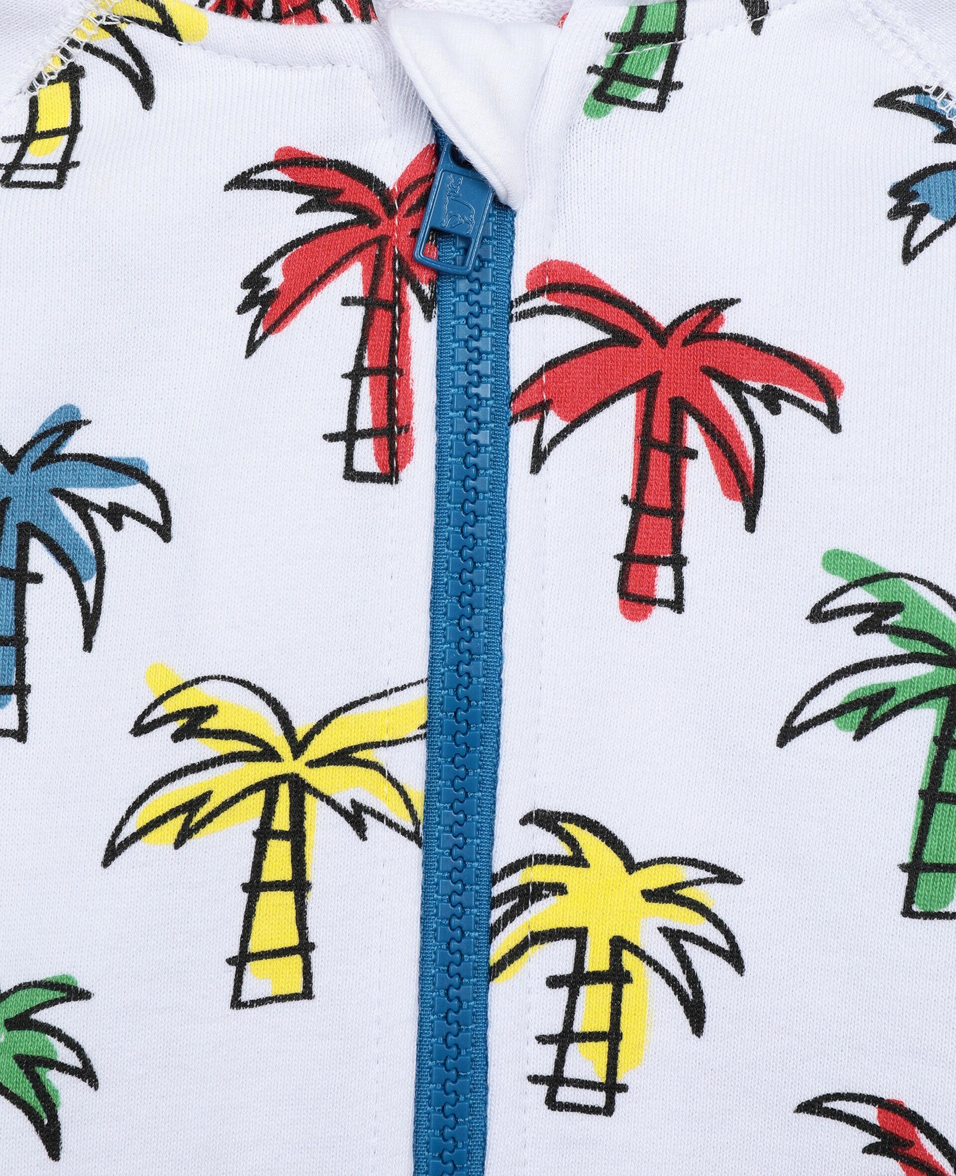 Sweat-shirt à capuche à palmiers gribouillés-Fantaisie-large image number 2