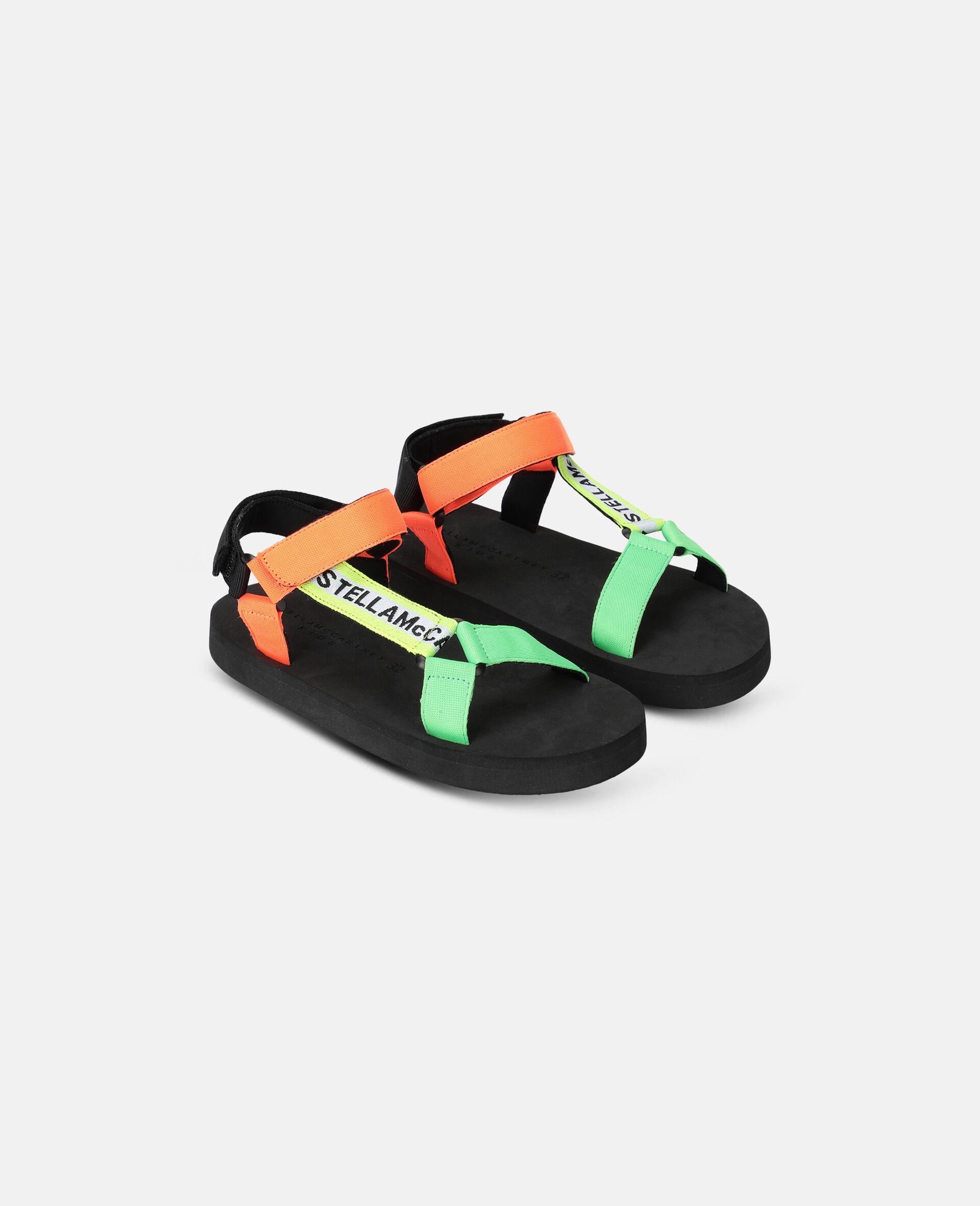 Multicolour Tape Sandals -Multicolour-large image number 3