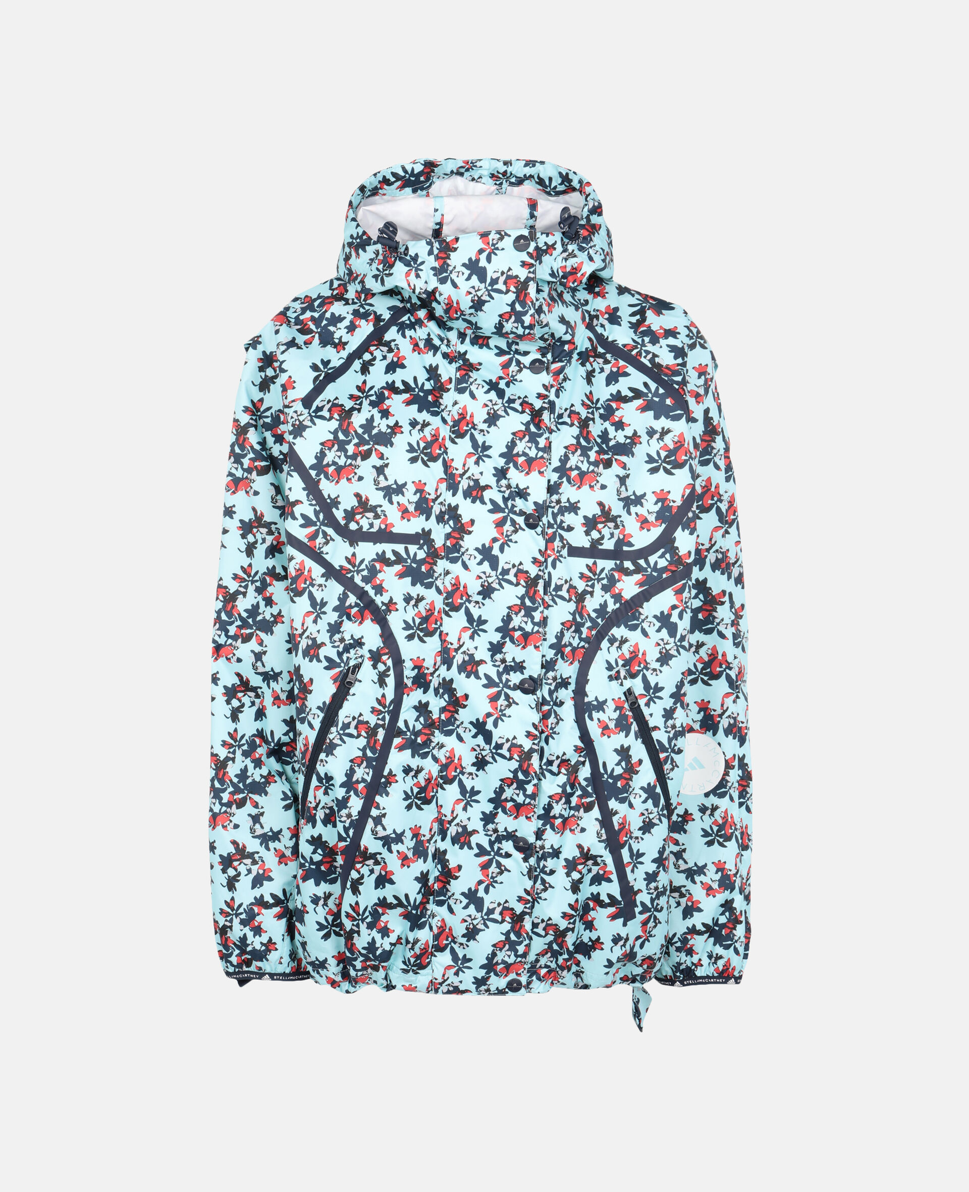 TruePace Printed Running Jacket -Blue-large image number 0