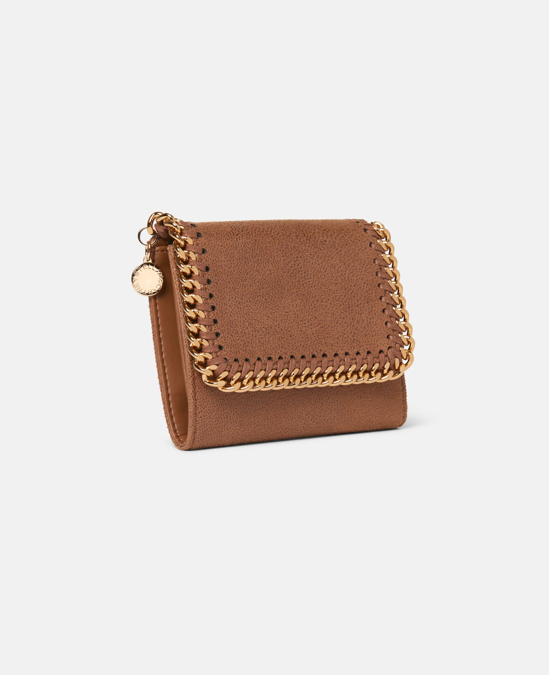 Falabella Small Flap Wallet-Beige-large image number 1
