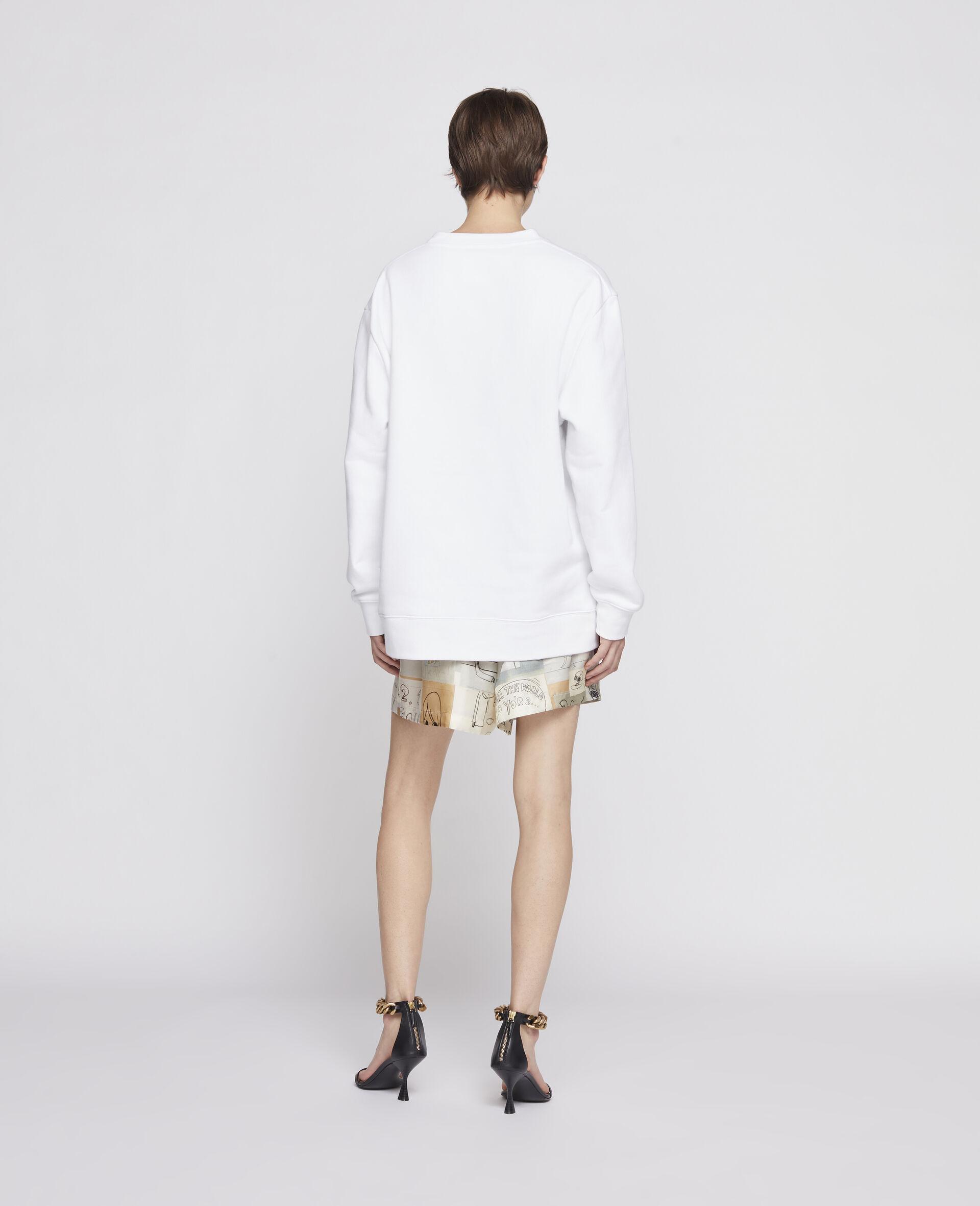 Sweat-shirt 23 OBS en coton biologique-Noir-large image number 2