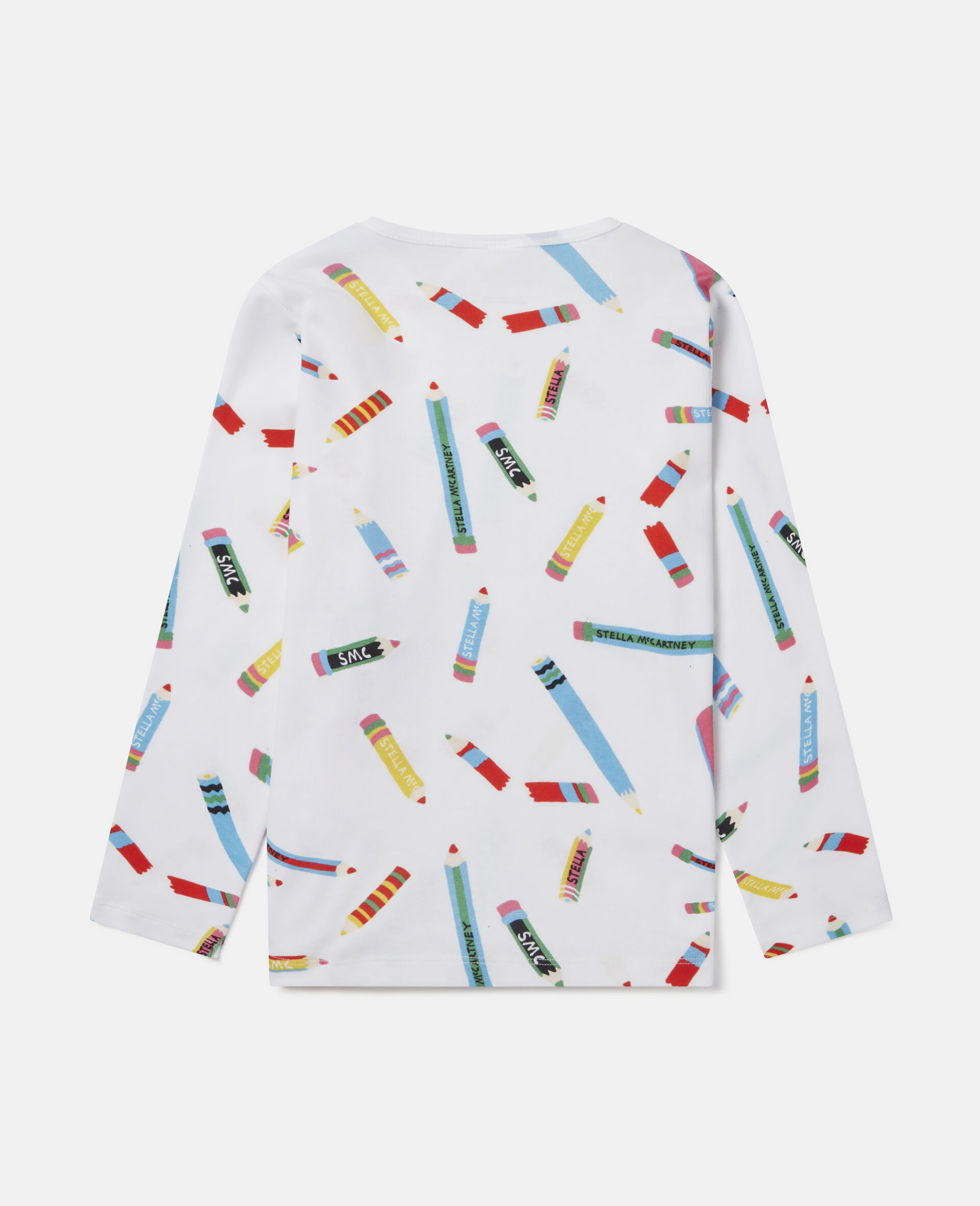 Pencils Cotton T-shirt -White-large image number 3