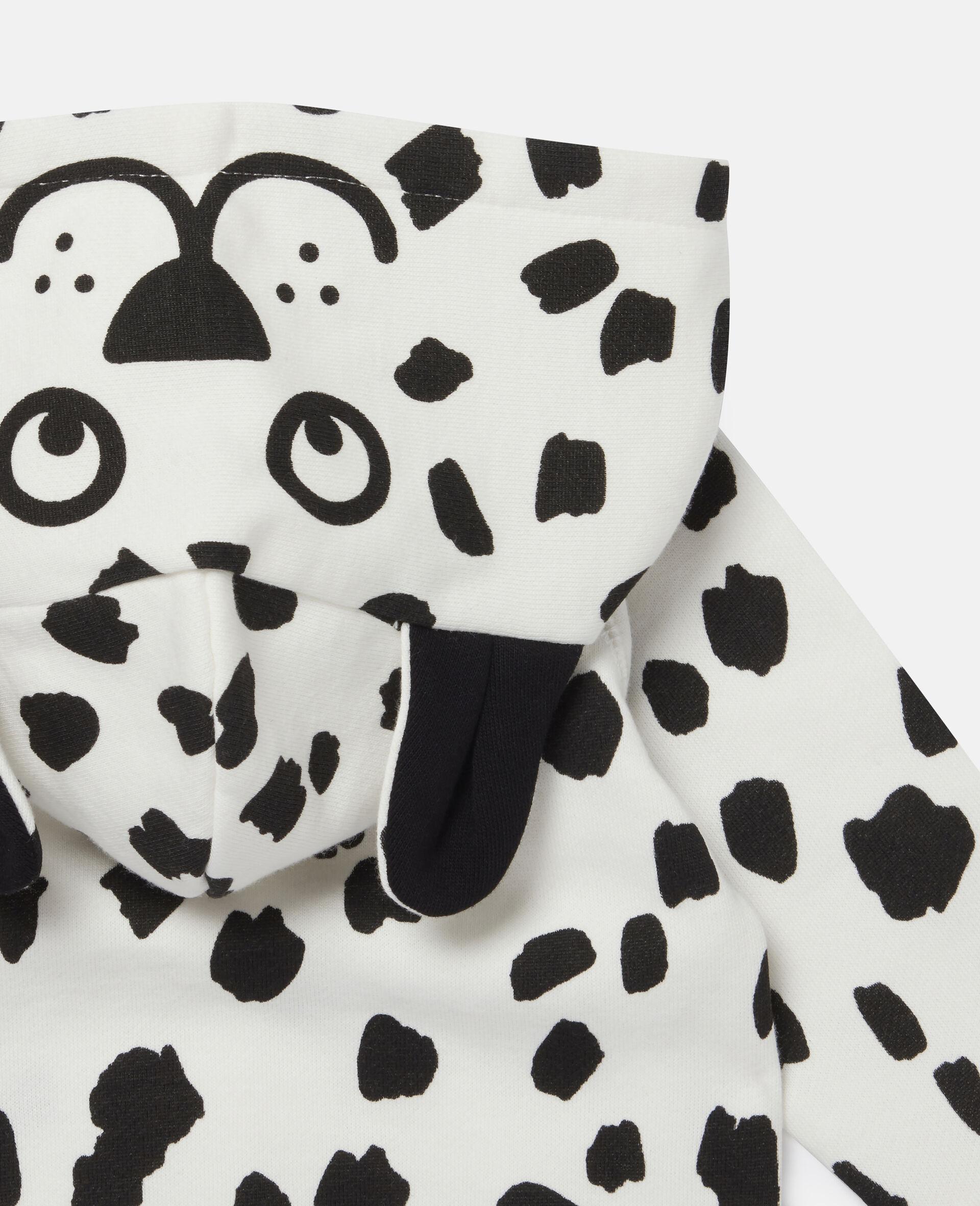 Sweat-shirt à capuche à tâches dalmatien-Blanc-large image number 2
