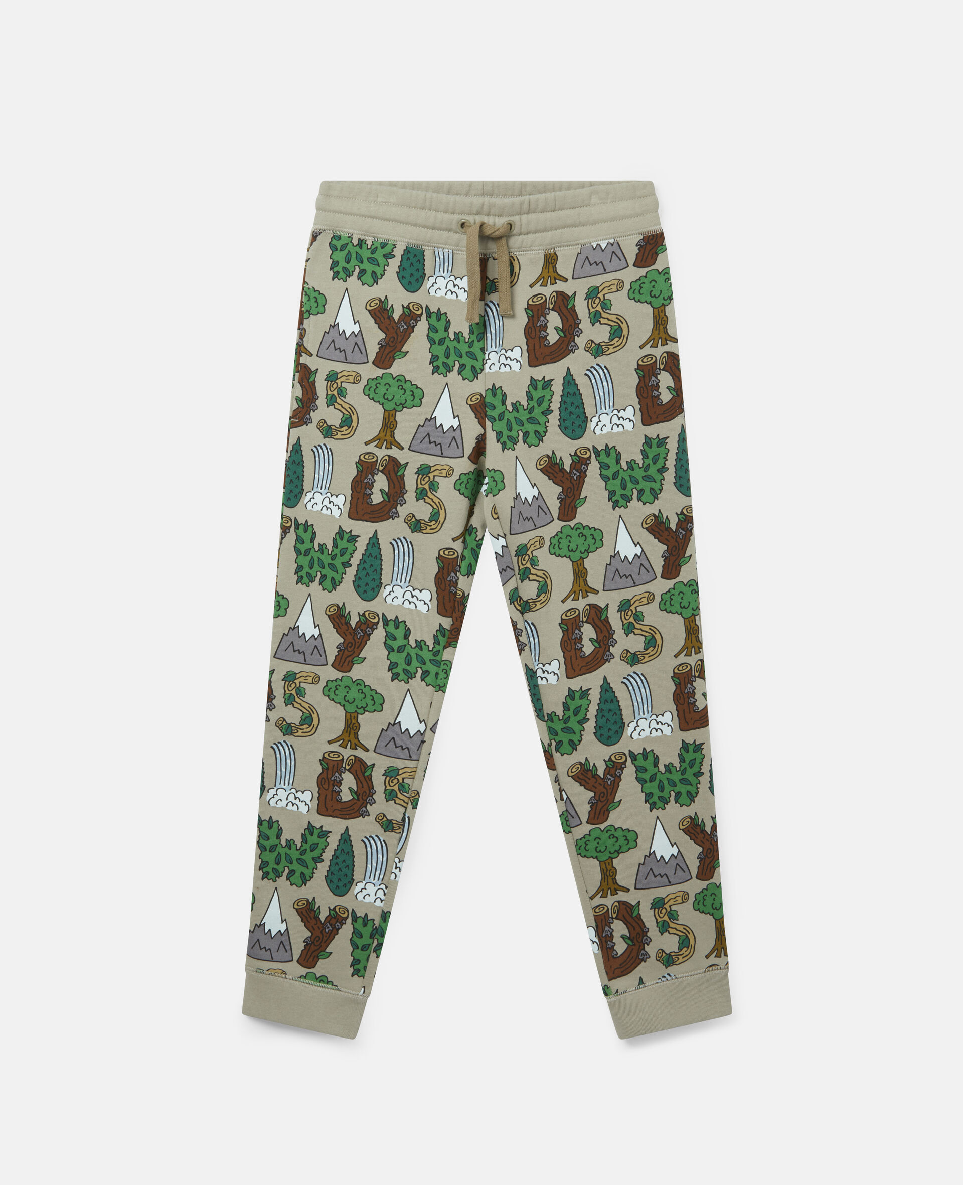 'Stay Wild' Fleece Joggers-Multicolour-large image number 0
