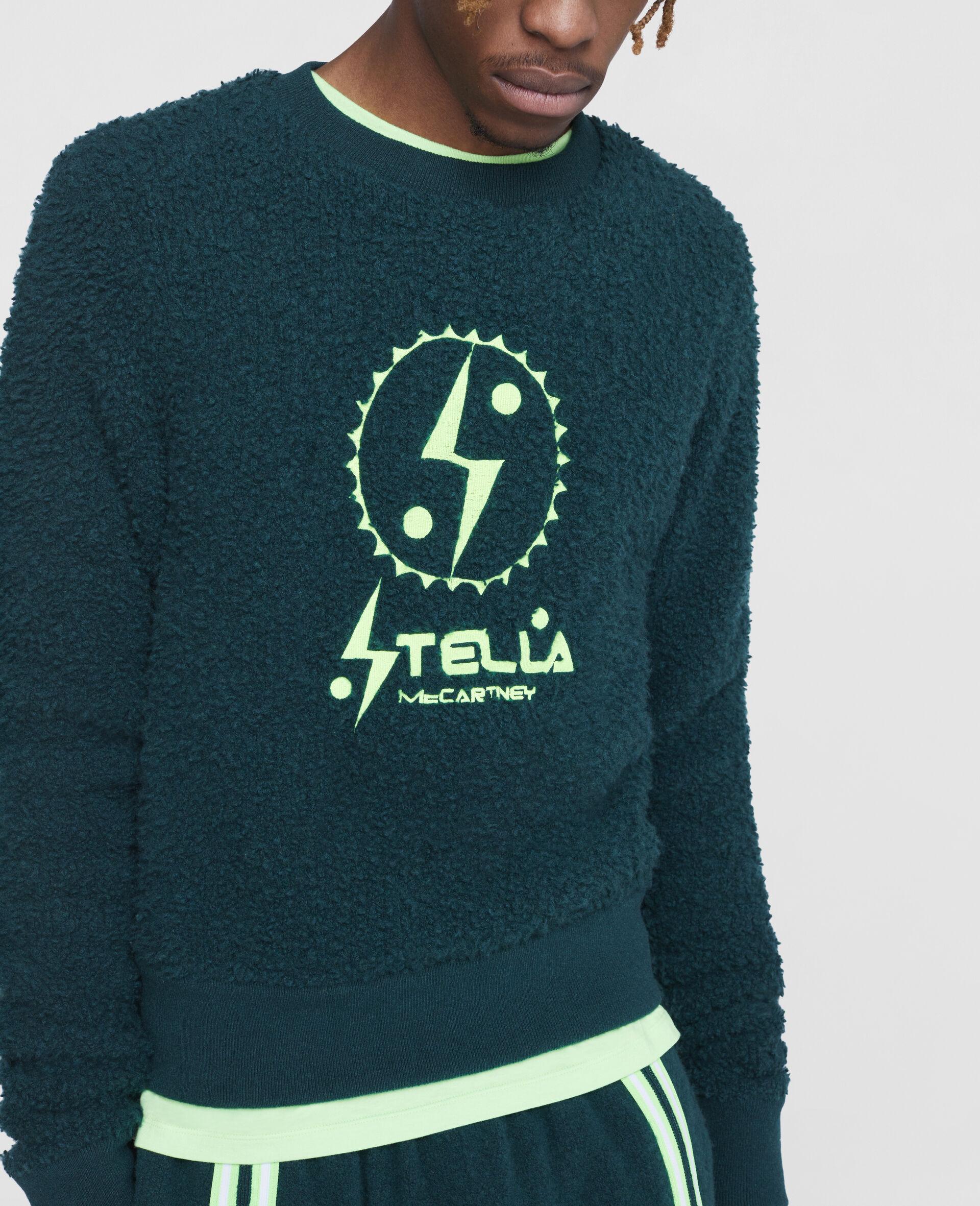 Tom Tosseyn Stella Logo Fleece Jumper -Green-large image number 4